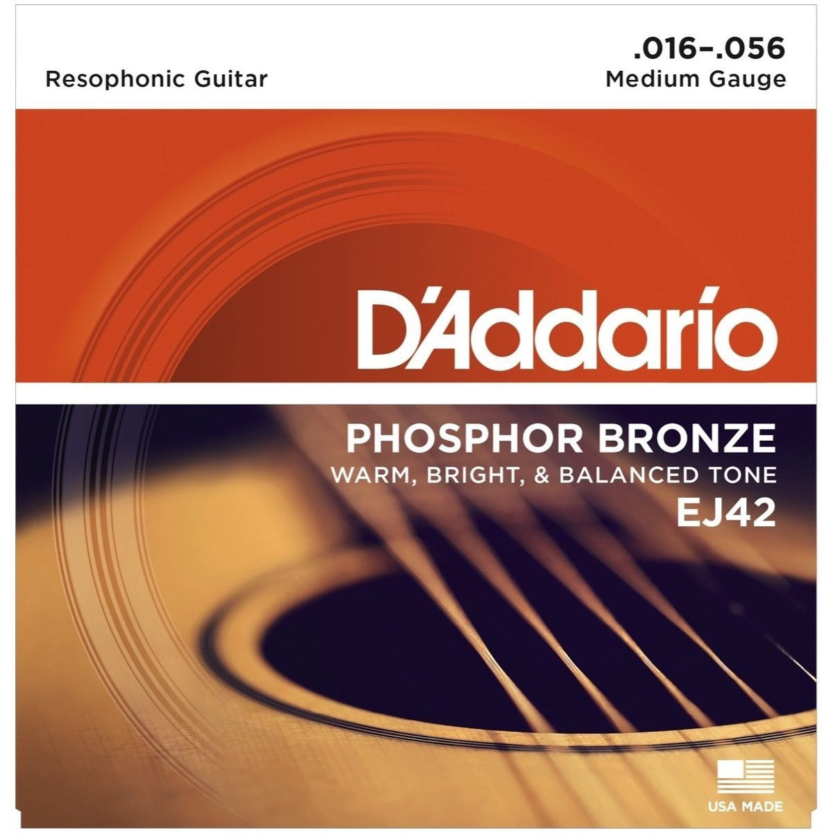 D'Addario EJ42 Resophonic Acoustic Guitar Strings, Meidum
