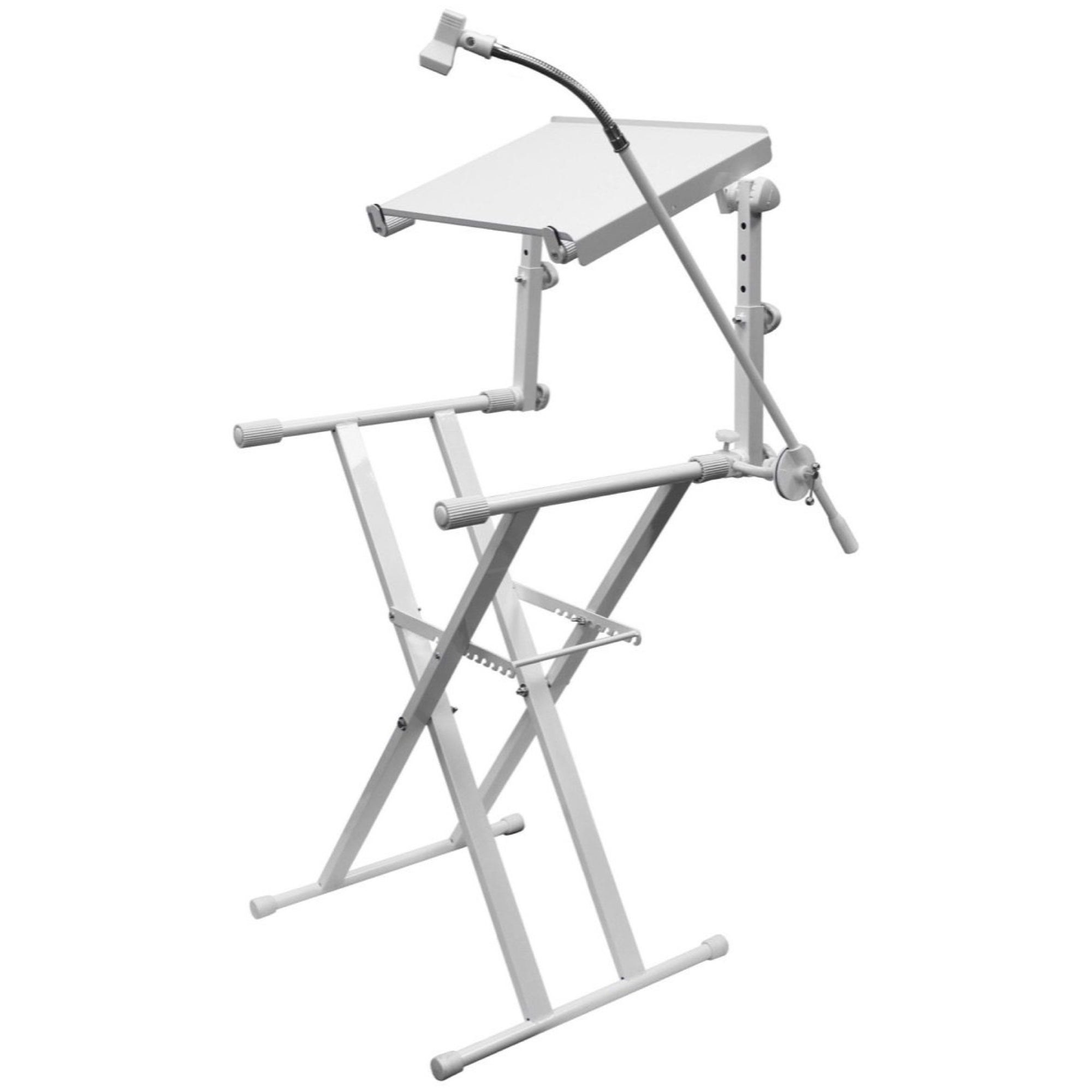 Odyssey LTBXS2MTCP 2-Tier DJ X-Stand Combo Pack, White