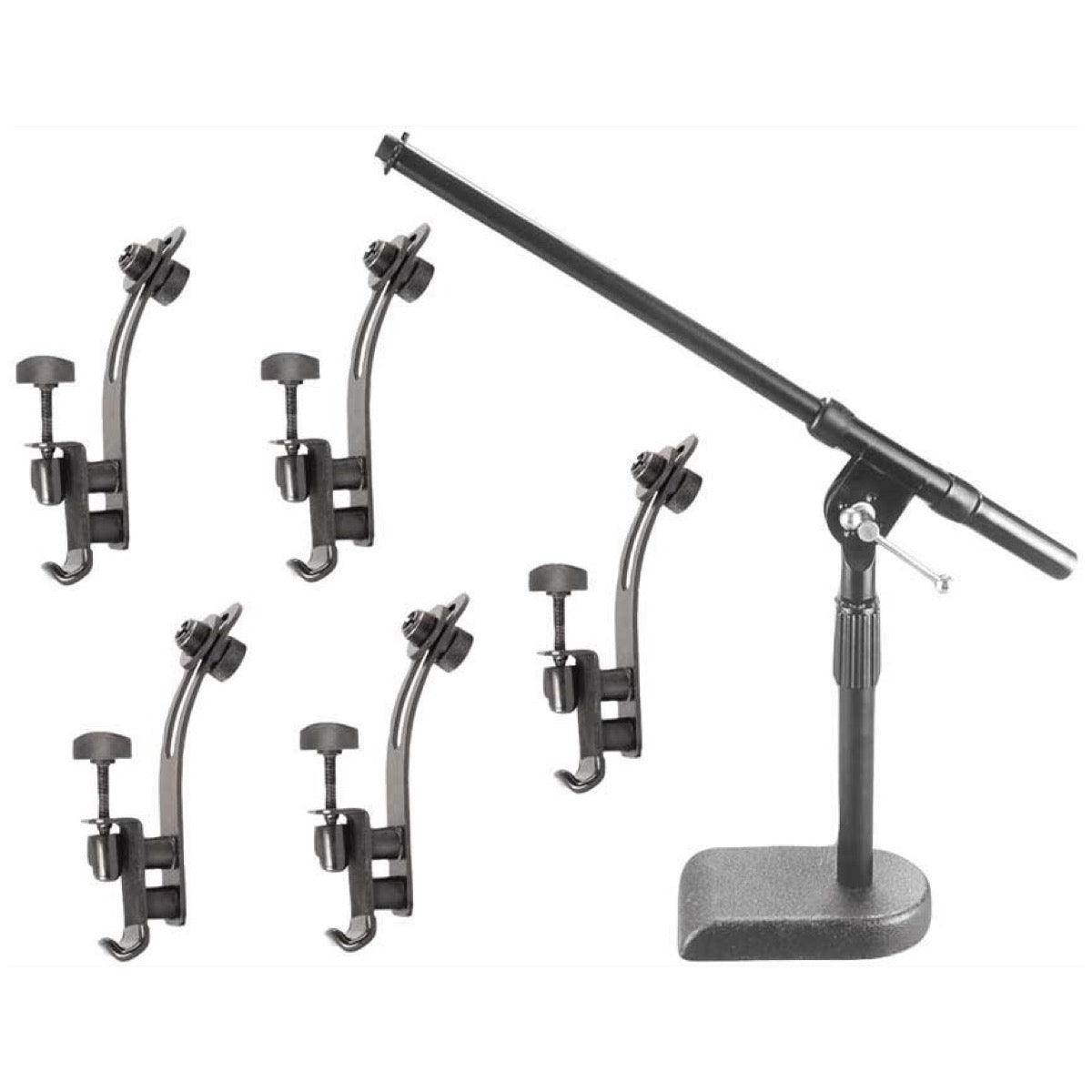 On-Stage Drum Set Microphone Stand and Clips Pack