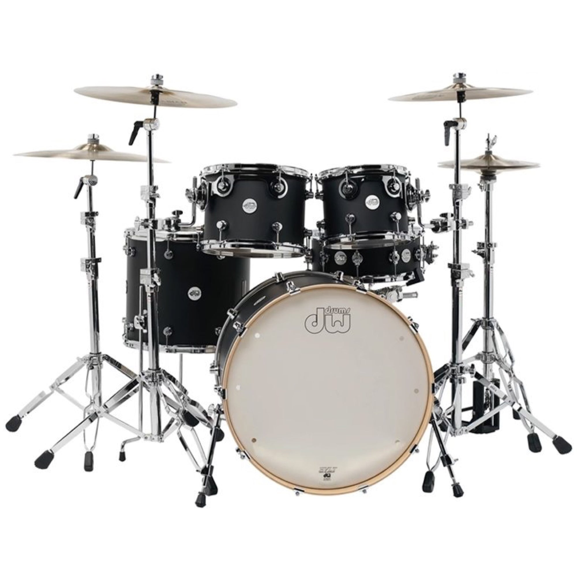 Drum Workshop DDLM2215 Design Series Drum Shell Kit, 5-Piece, Black