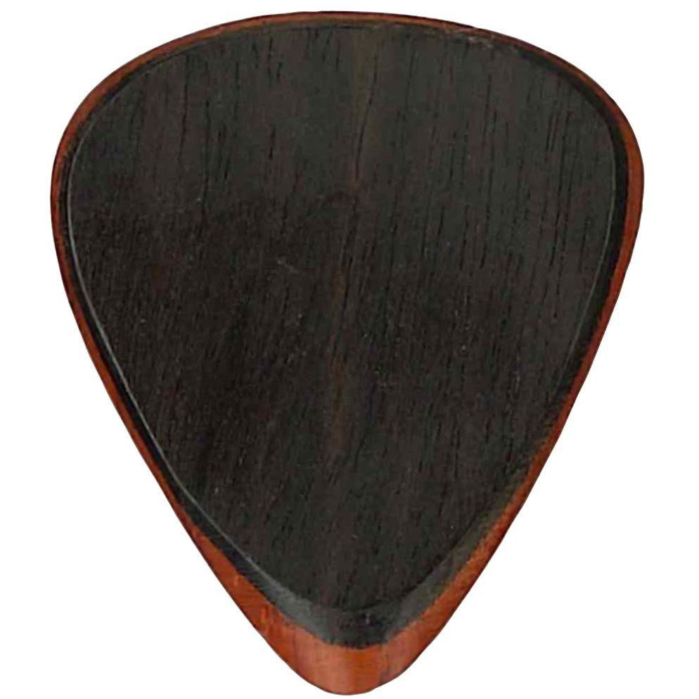 Clayton Exotic Fuse Guitar Picks, Ebony/Padauk, 3-Pack