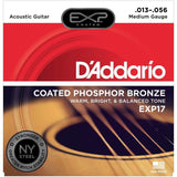 Load image into Gallery viewer, D'Addario EXP Coated Phosphor Bronze Acoustic Guitar Strings, EXP17, Medium, 13-56