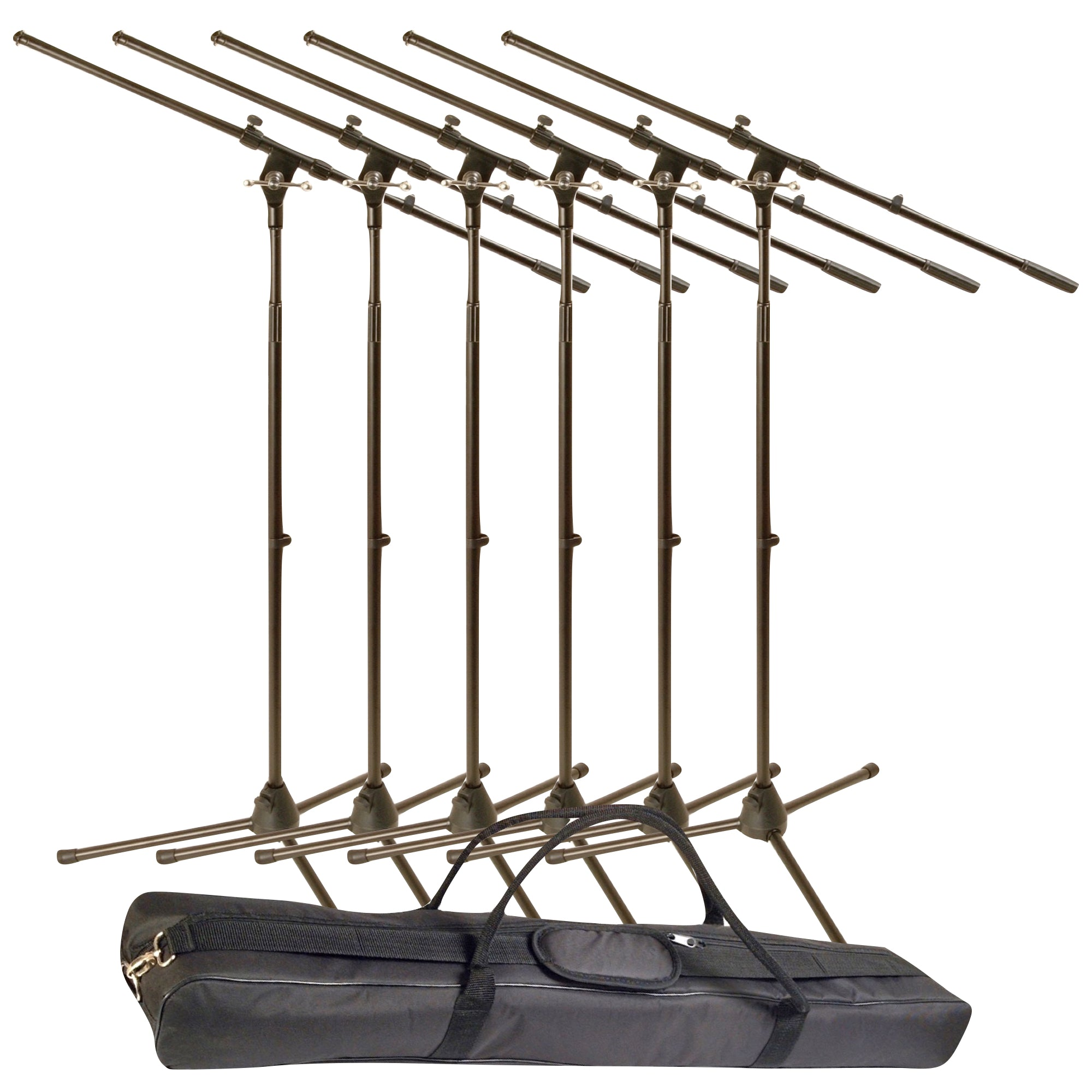 World Tour MSP600 Microphone Stand Pack (with One Gig Bag), 6-Pack