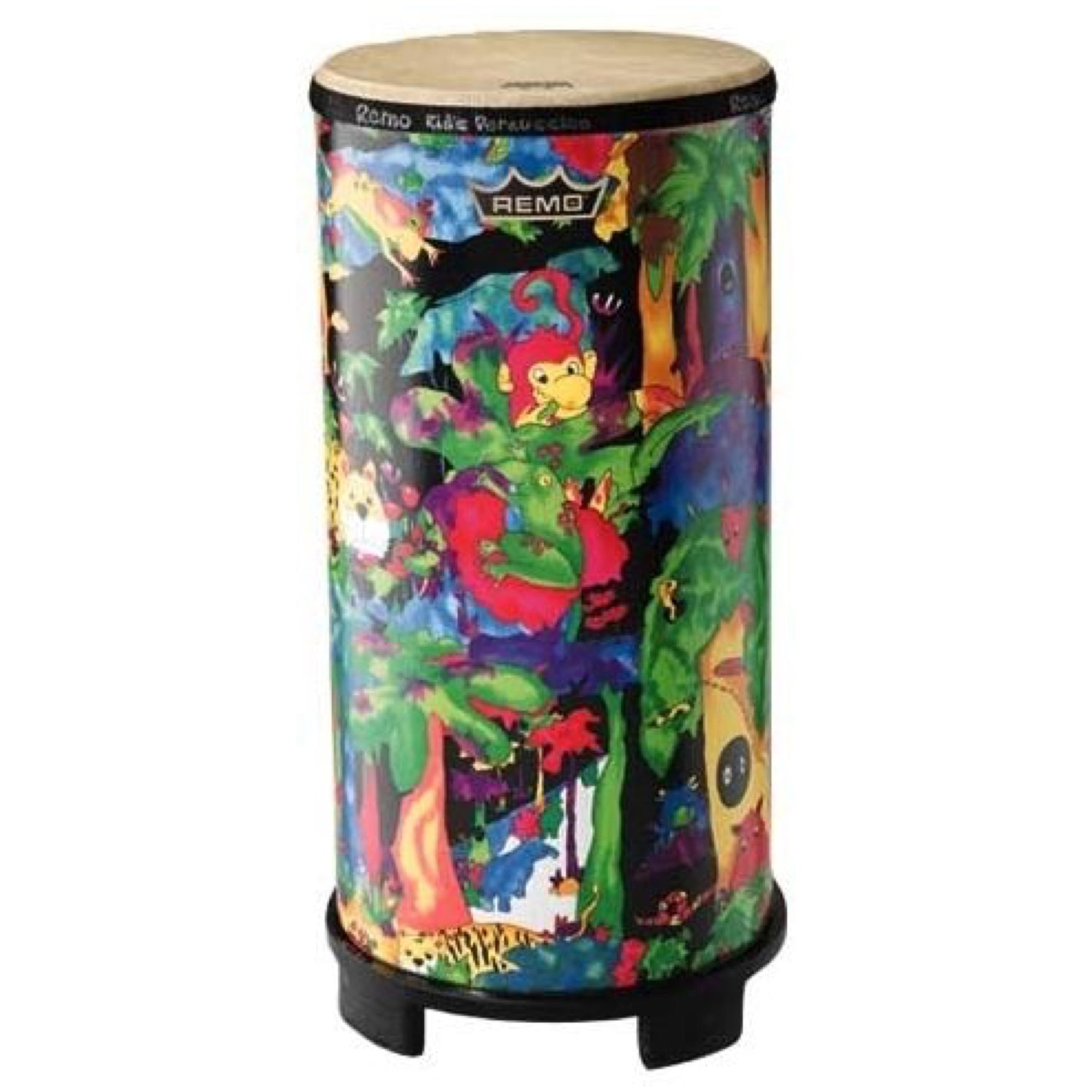 Remo Kids Percussion Tubano Drum, KD-0010-01, Rain Forest Fabric, 10 Inch