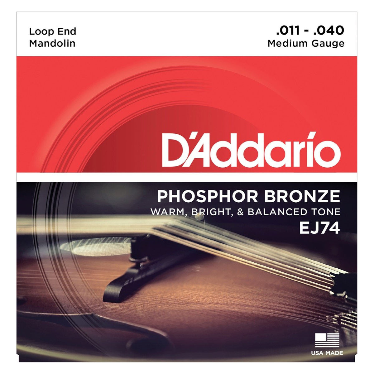 D'Addario J74 Phosphor Bronze Mandolin Strings