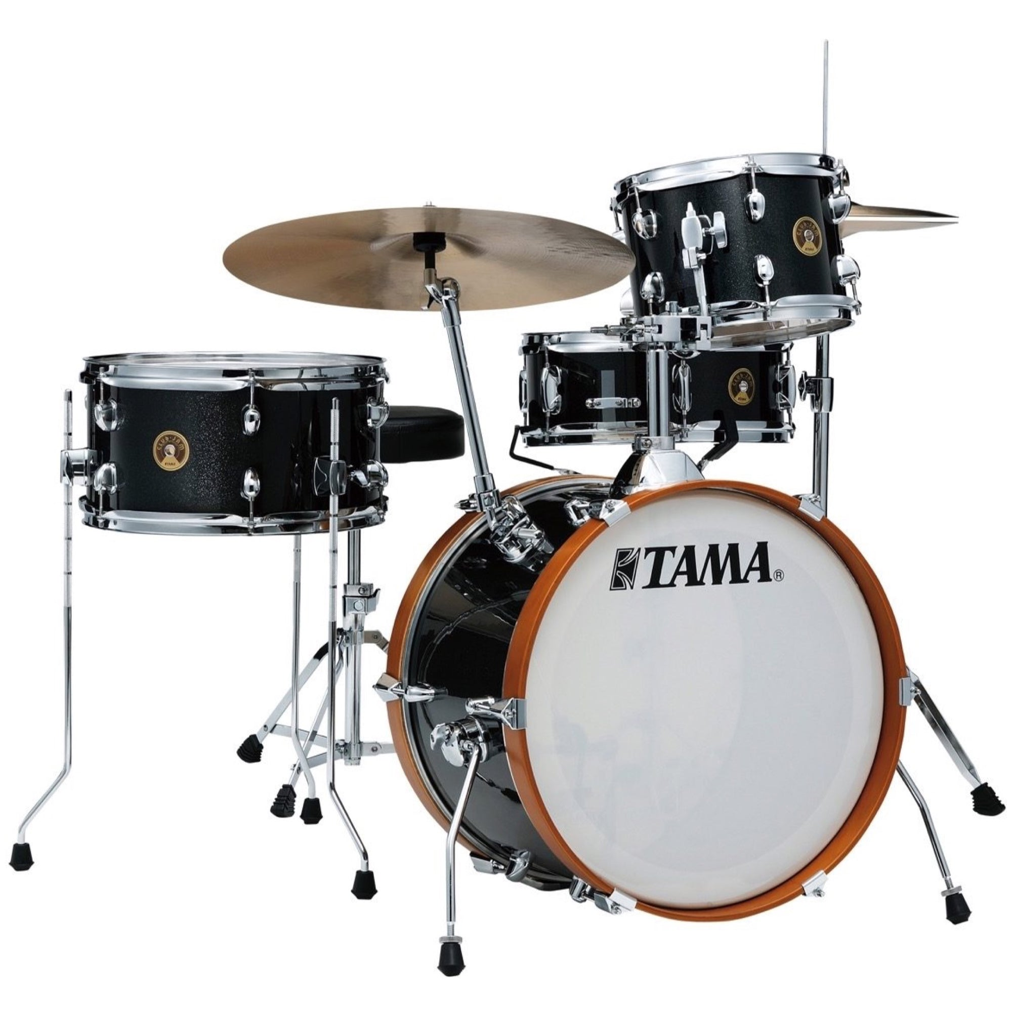 Tama Club Jam Drum Shell Kit, 4-Piece, Charcoal Mist