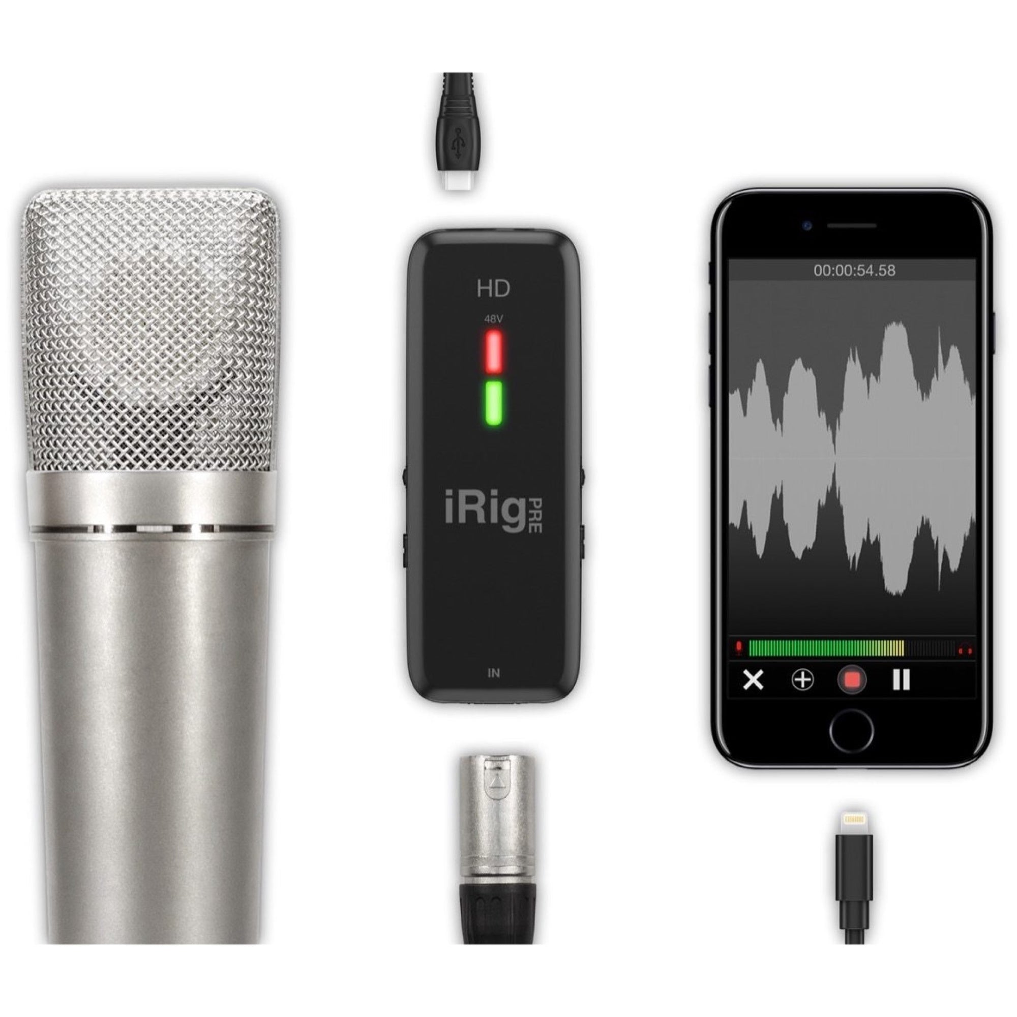 IK Multimedia iRig Pre HD High-Definition Mic Preamplifier Interface