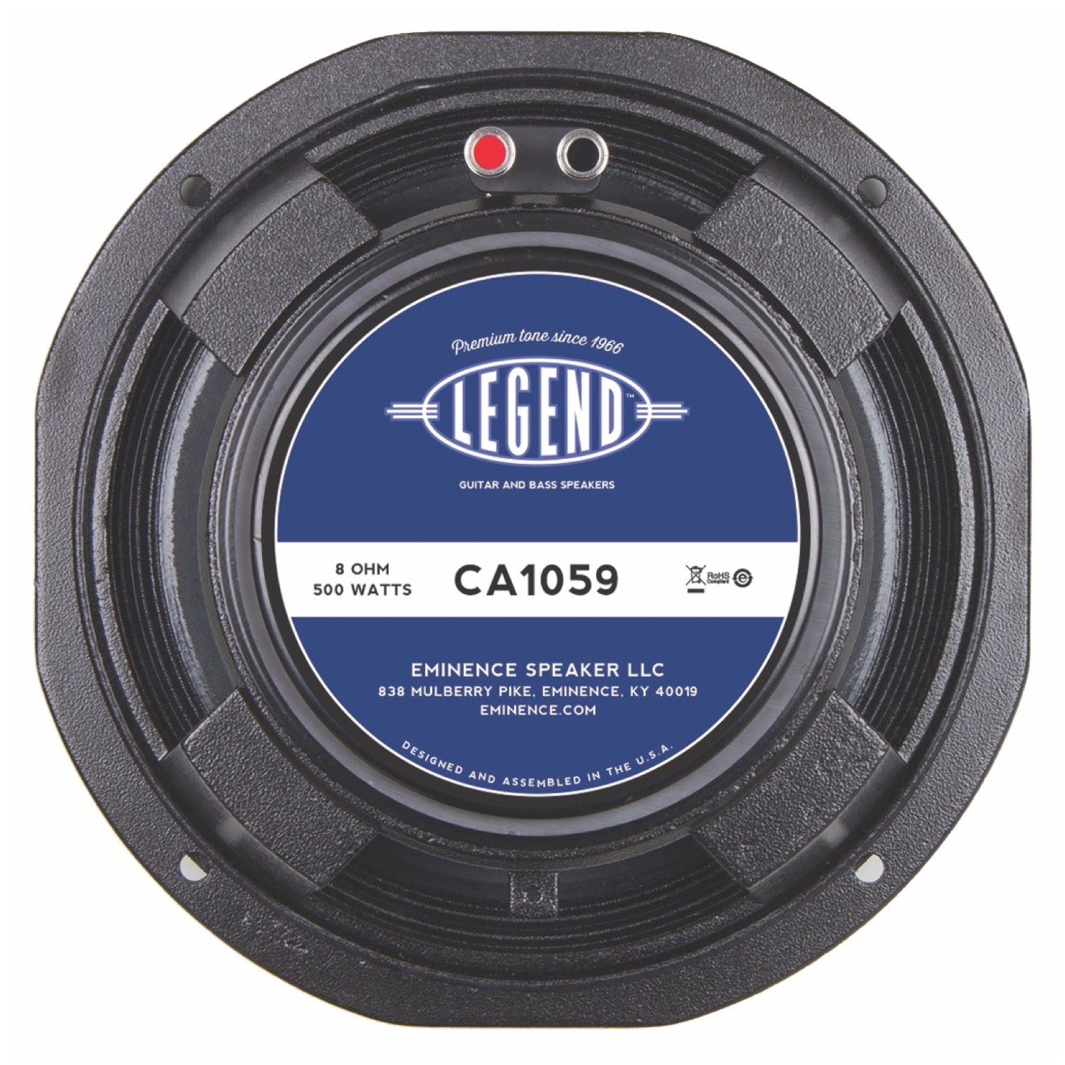 Eminence Legend CA1059 Replacement Bass Speaker (250 Watts), 8 Ohms, 10 Inch