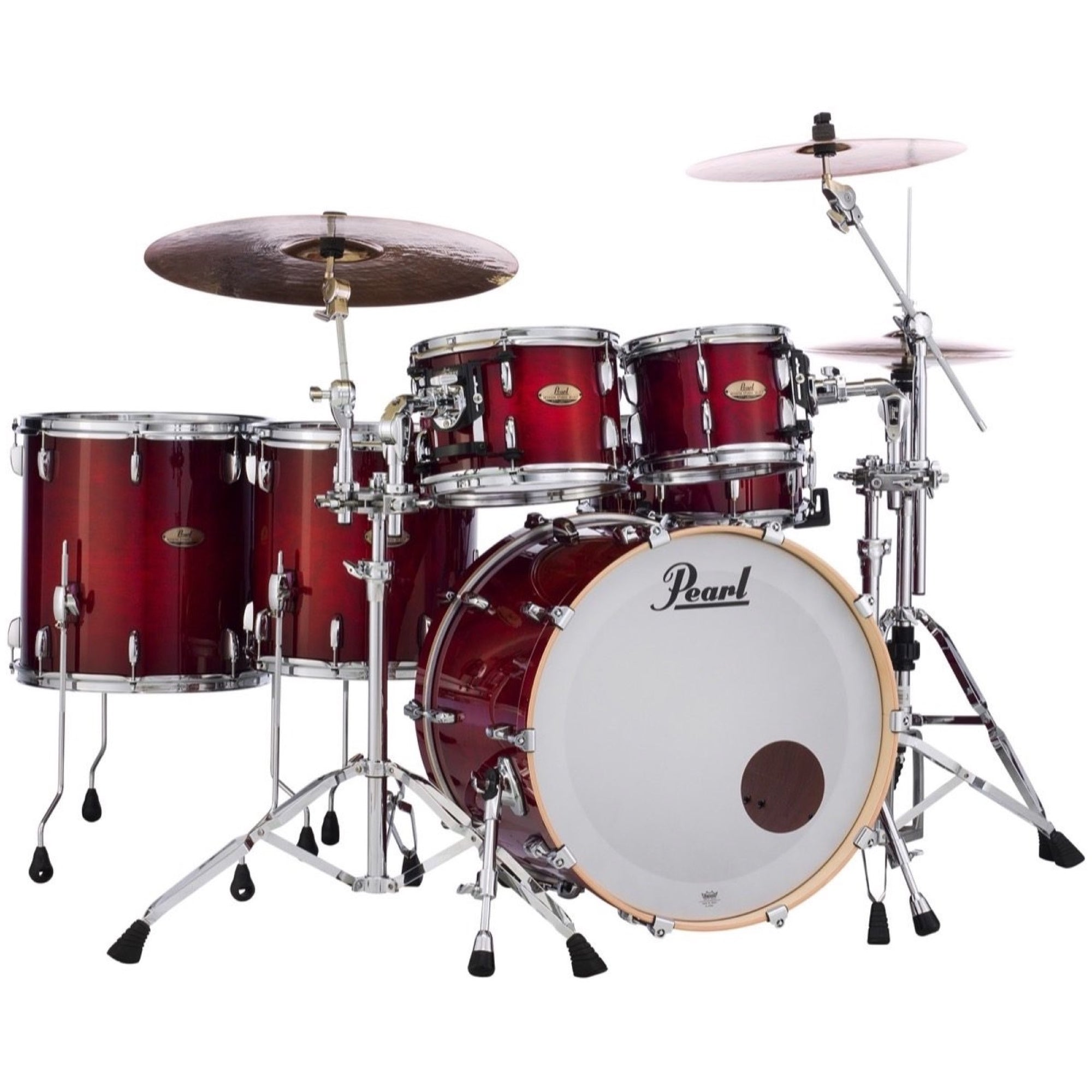 Pearl Session Studio Select Drum Shell Kit, 5-Piece, Antique Crimson Burst