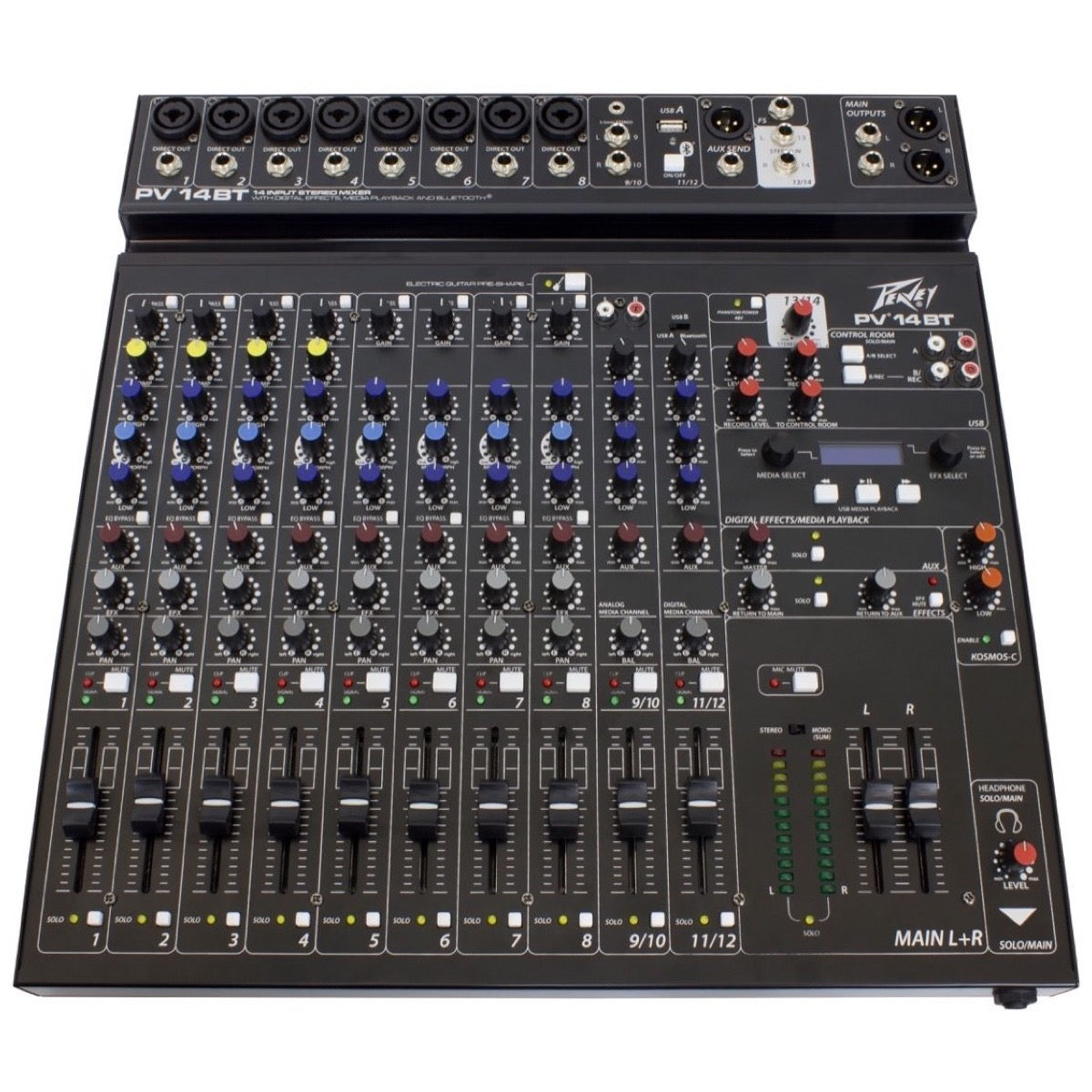 Peavey PV-14BT Stereo Bluetooth Mixer, 14-Channel