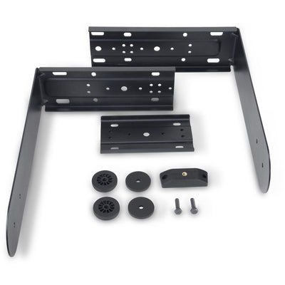 QSC K12.2 Powder Coated Steel Yoke Mount Kit, Black