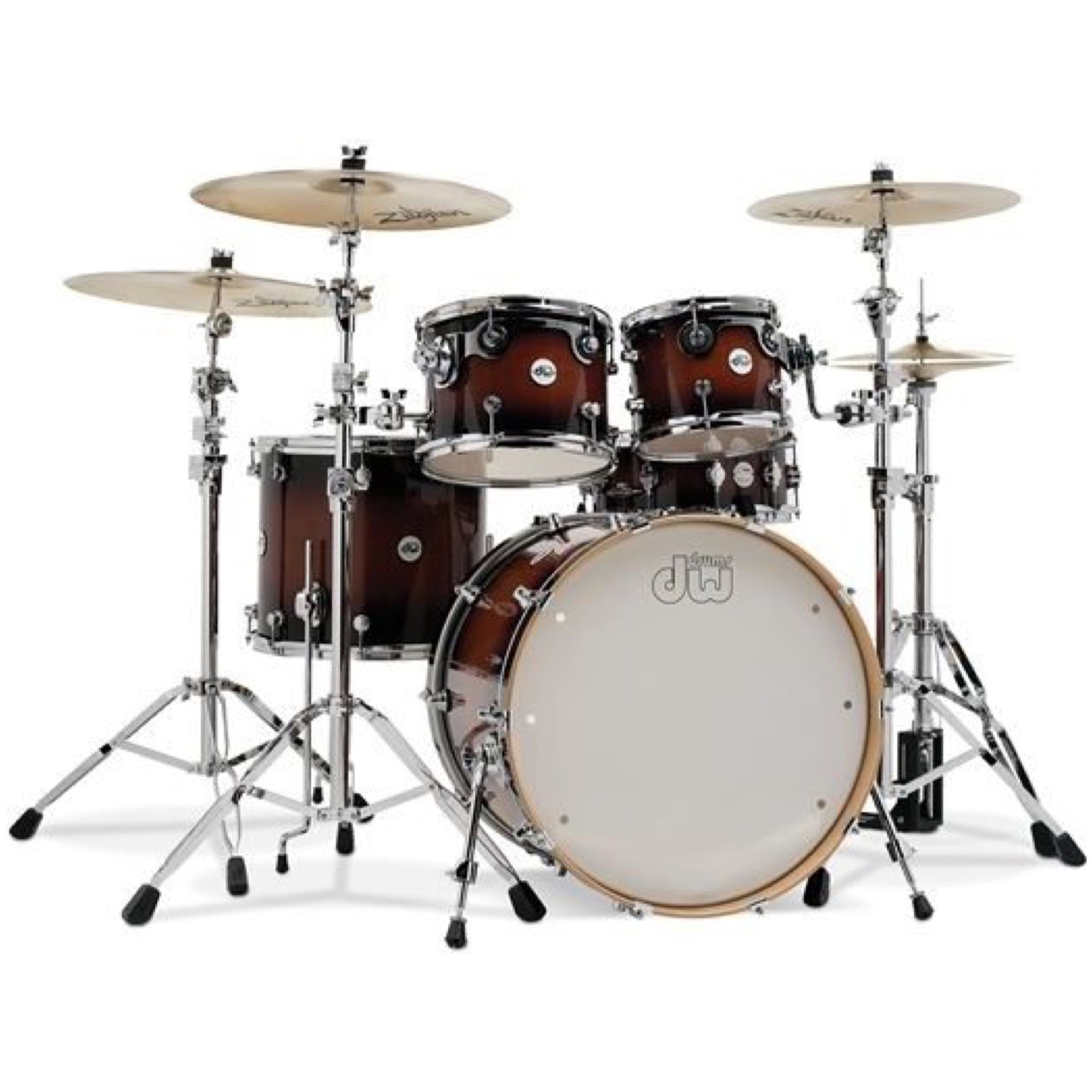Drum Workshop DDLG2215 Design Series Drum Shell Kit, 5-Piece, Tobacco Burst