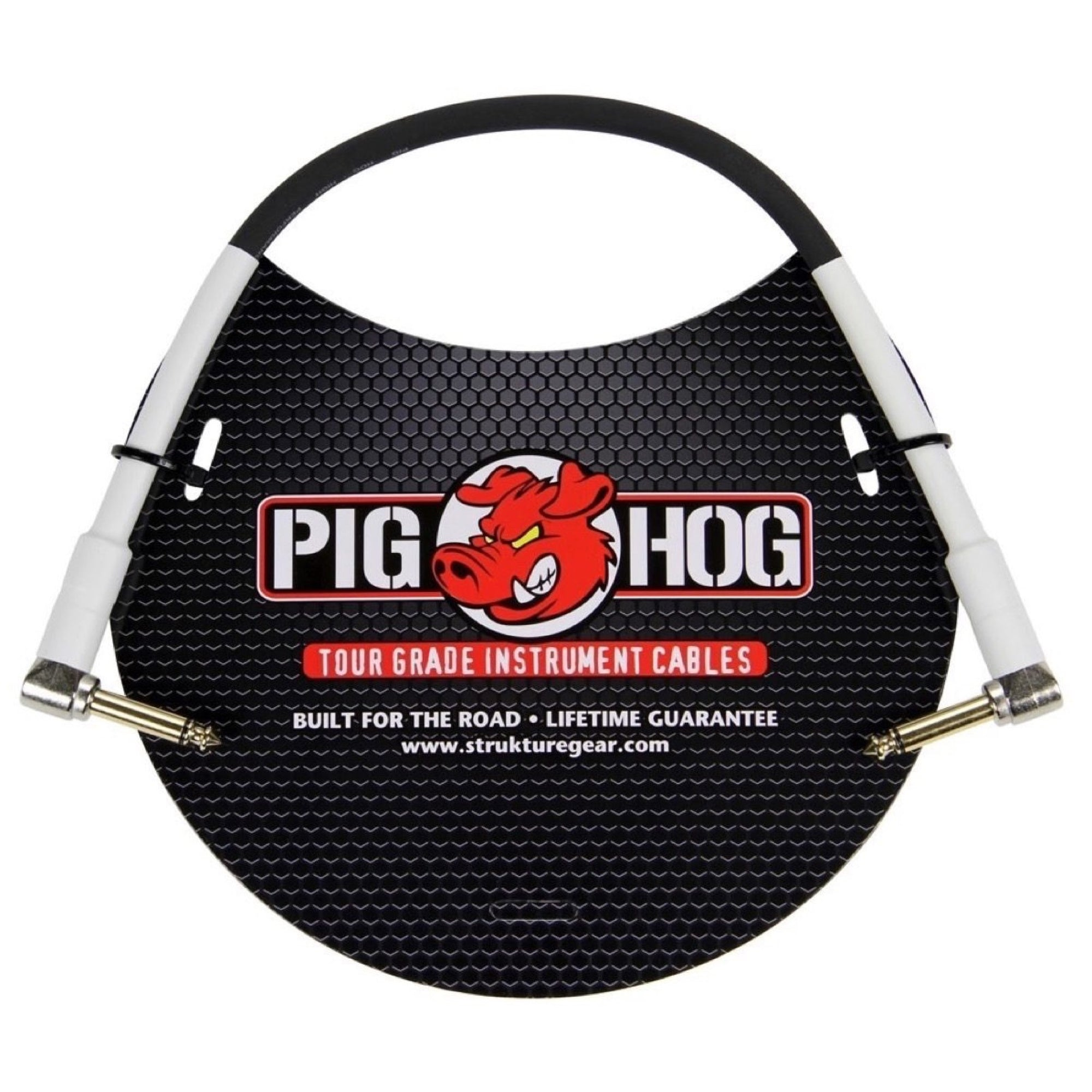 Pig Hog Instrument Pedal Cable, with Right Angle to Right Angle Ends, 6 Foot