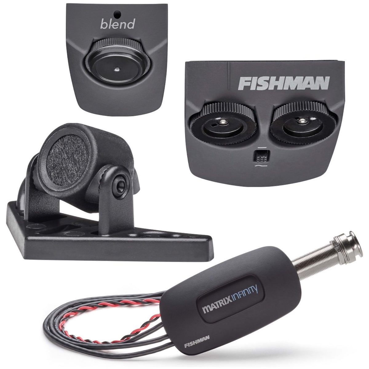 Fishman Matrix Infinity Mic Blend Pickup and Preamp System, Narrow Split
