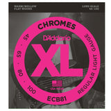 Load image into Gallery viewer, D'Addario ECB81 Chromes Flatwound Bass Strings (Regular Light, Long Scale)