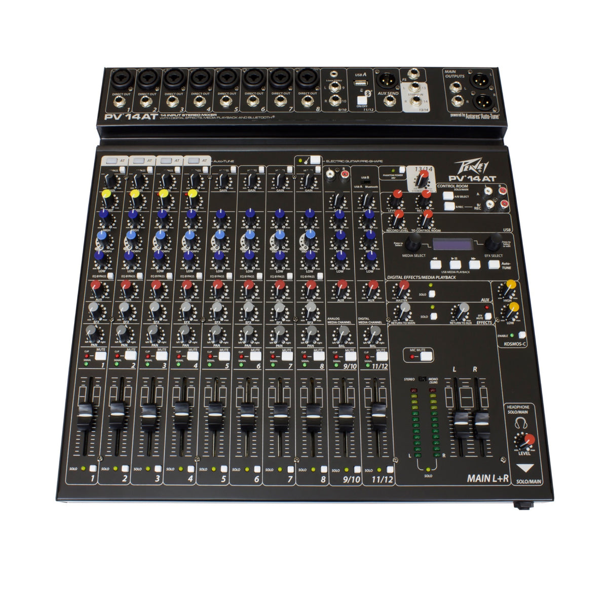 Peavey PV-14AT Stereo Mixer with Auto-Tune, 14-Channel