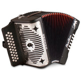 Load image into Gallery viewer, Hohner Panther Diatonic Accordion, Black, 3100FB, Key Combination F/Bb/Eb