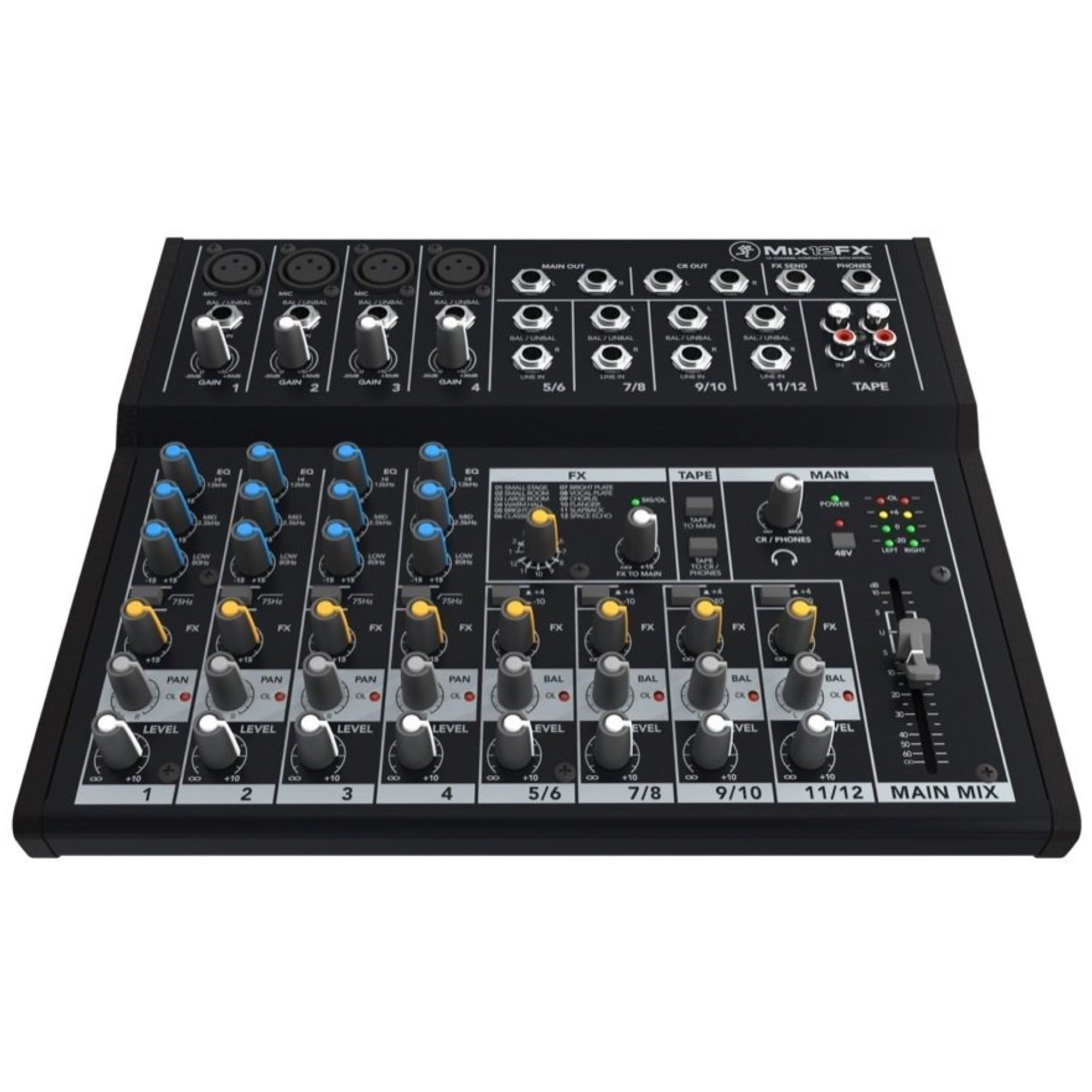 Mackie Mix12FX Compact Mixer with Effects, 12-Channel