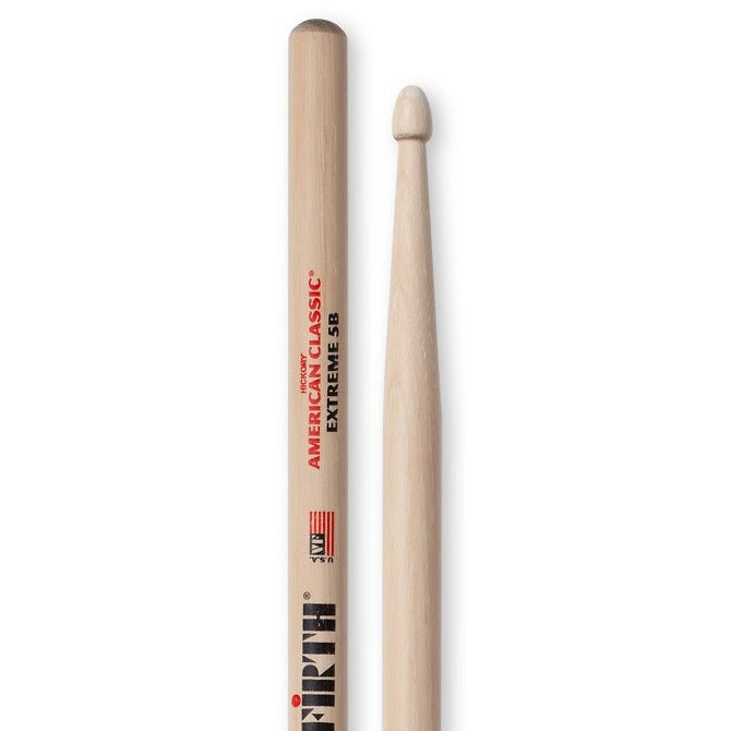 Vic Firth American Classic Extreme 5B Drumsticks, Wood Tip, Pair
