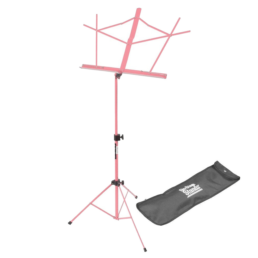 On-Stage SM7122 Folding Music Stand, Pink, with Bag