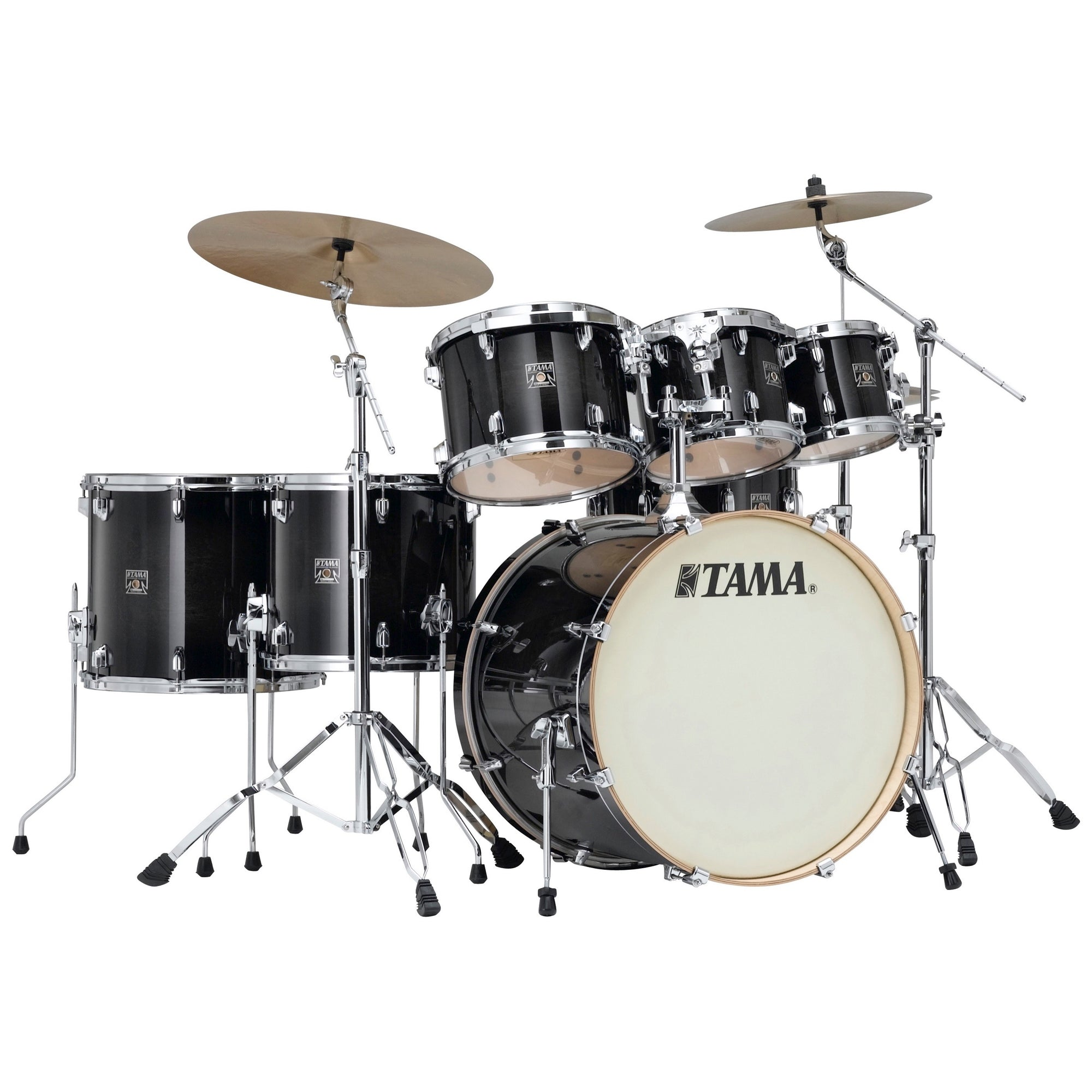 Tama CL72S Superstar Classic Drum Shell Kit, 7-Piece, Transparent Black Burst
