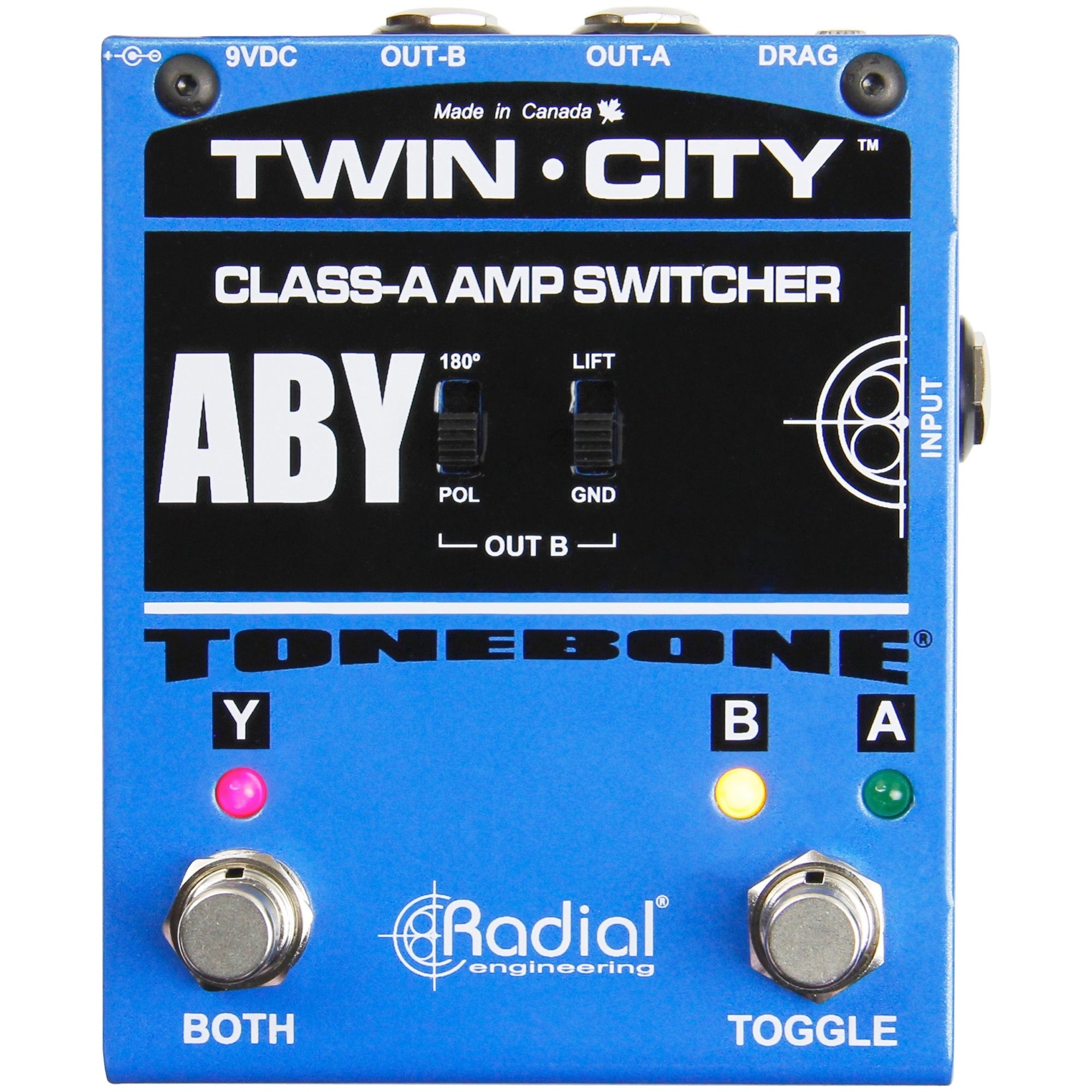 Radial Twin City Bones ABY Switcher Pedal