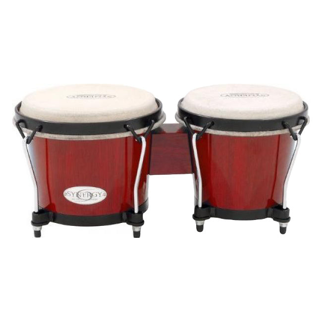 Toca Synergy Bongo Set, Rio Red, 6 and 6 3/4 Inch