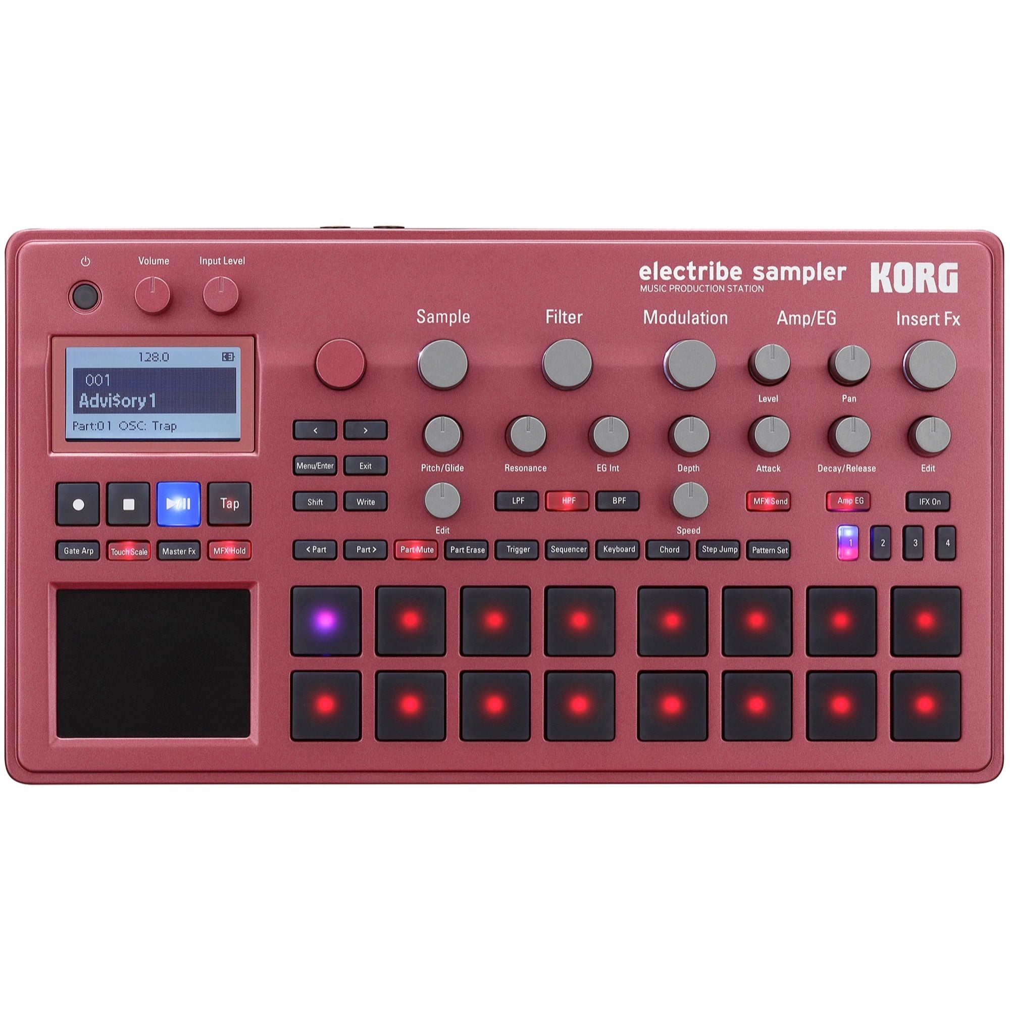 Korg Electribe Sampler Music Production Station, Red