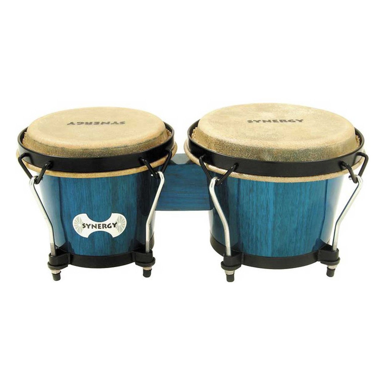 Toca Synergy Bongo Set, Bahama Blue, 6 and 6 3/4 Inch