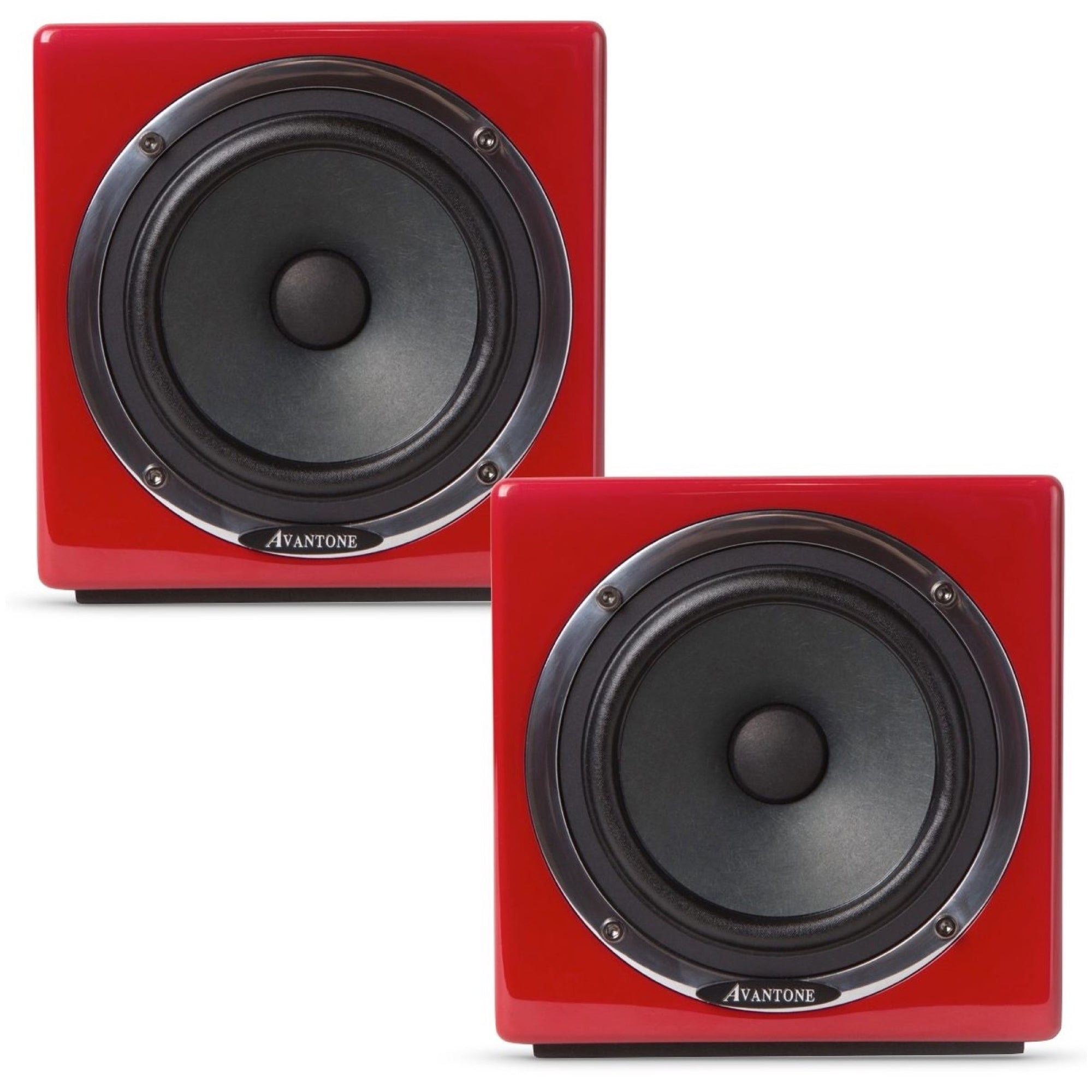 Avantone MixCubes Active Studio Monitor (60 Watts, 1x5.25 Inch), Red, Pair