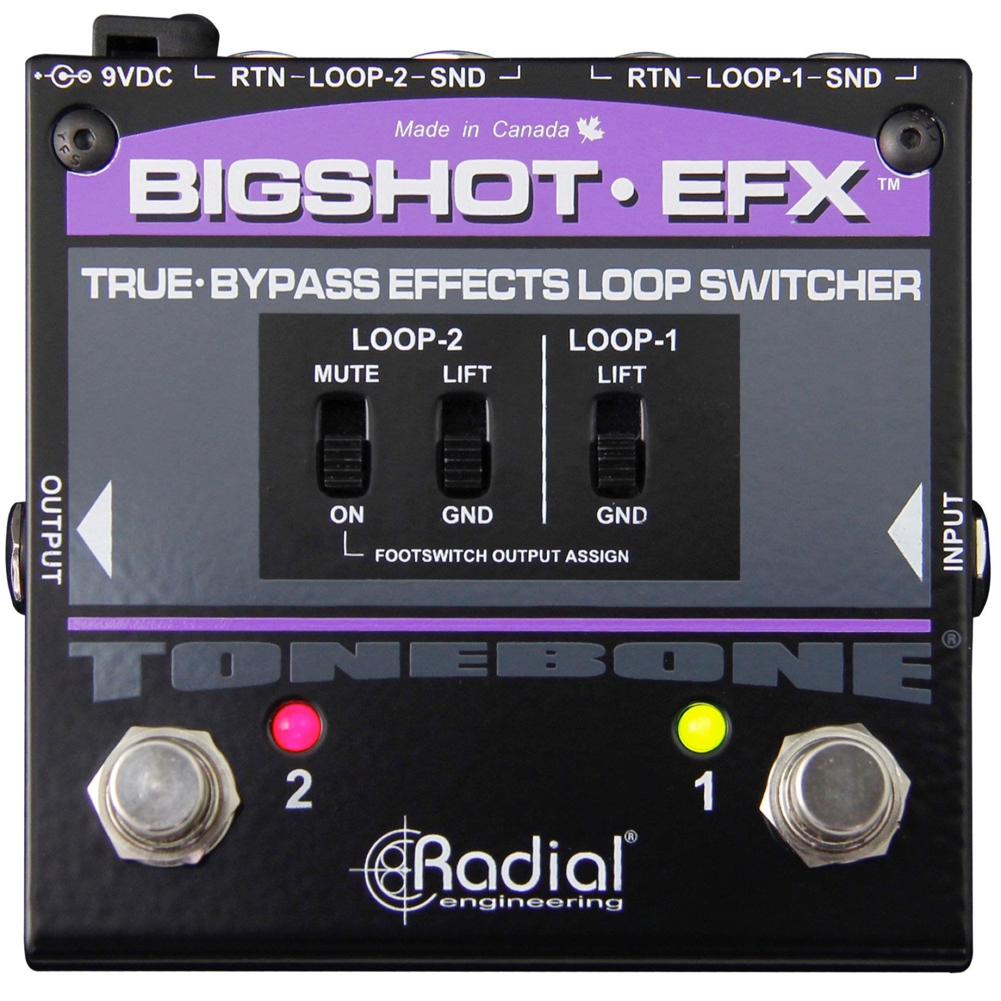 Radial Big Shot EFX Effects Loop Selector Pedal