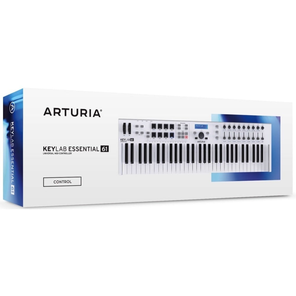 Arturia Keylab 61 Essential Keyboard Controller, 61-Key, White