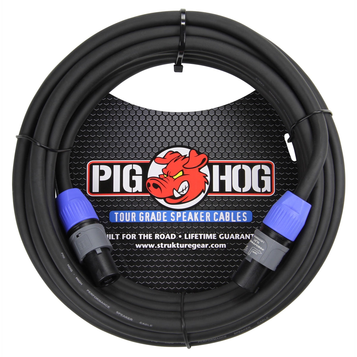 Pig Hog Speakon to Speakon 14-Gauge Speaker Cable, 50 Foot