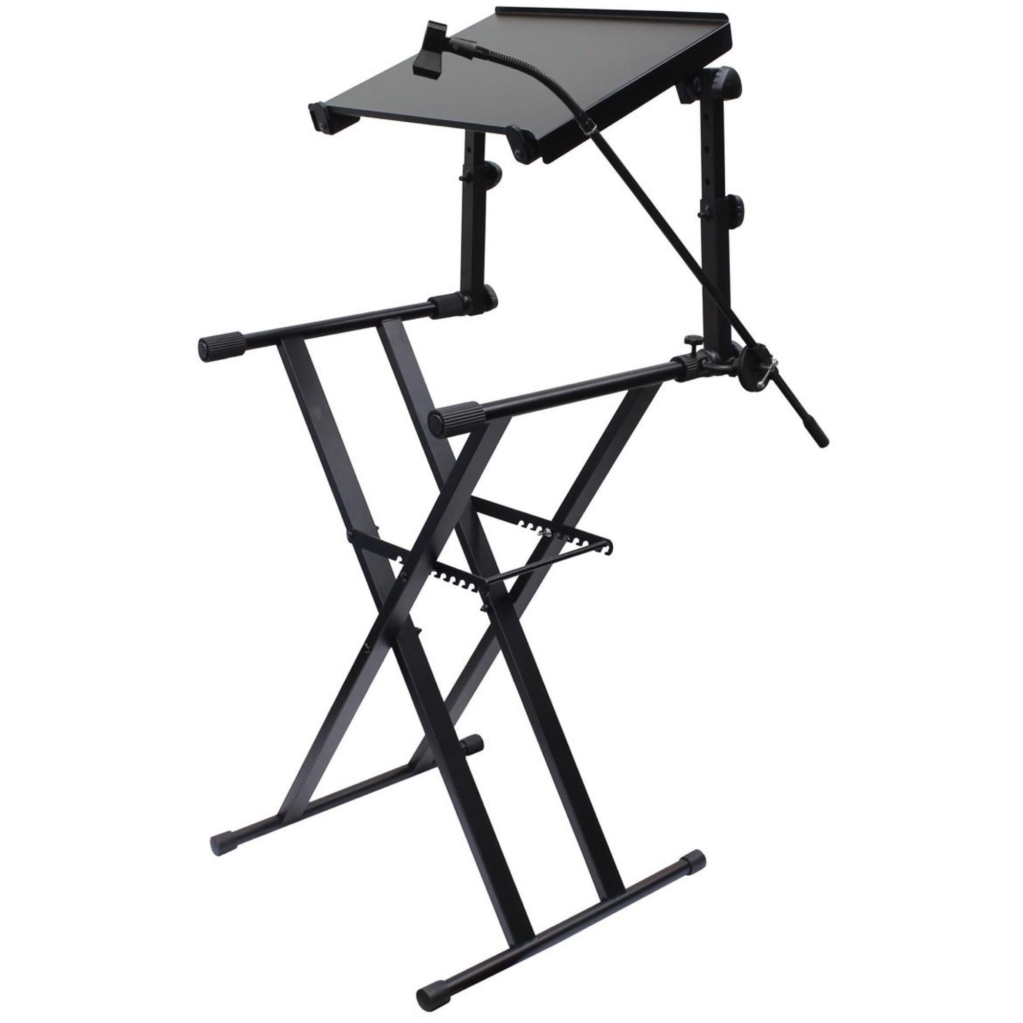 Odyssey LTBXS2MTCP 2-Tier DJ X-Stand Combo Pack, Black