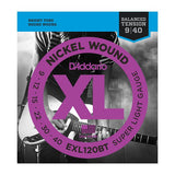 Load image into Gallery viewer, D'Addario EXLBT Nickel Wound Balanced Tension Electric Guitar Strings, EXL120BT, Super Light, 14855