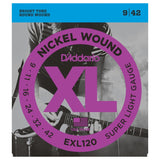 Load image into Gallery viewer, D'Addario EXL120 XL Electric Guitar Strings (Super Light, 9-42), 10-Pack