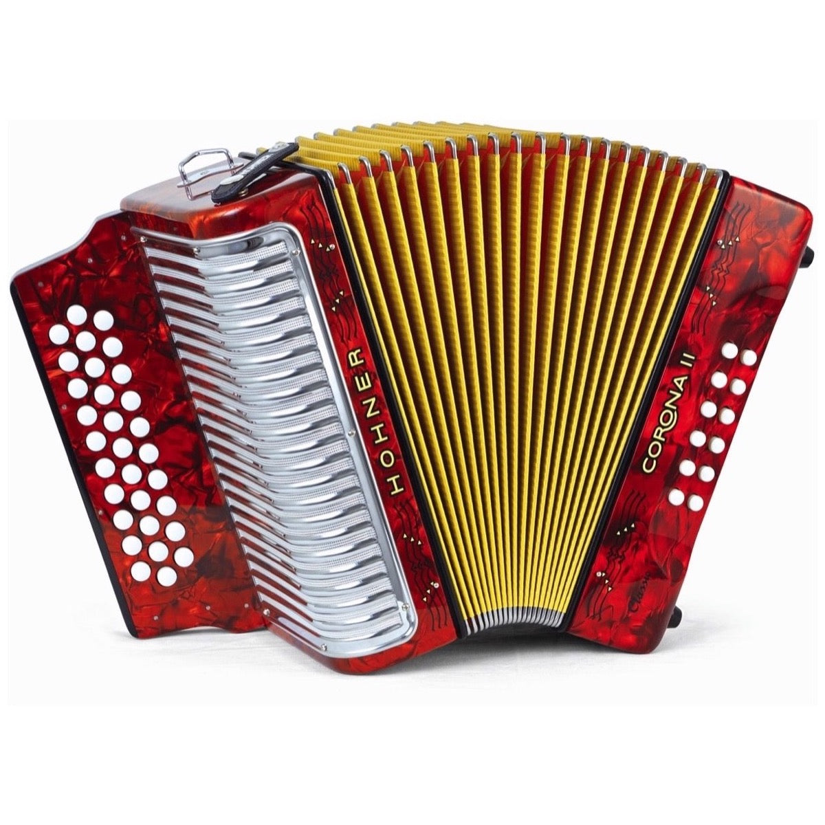 Hohner 3523GR Corona II Classic Accordion, Red