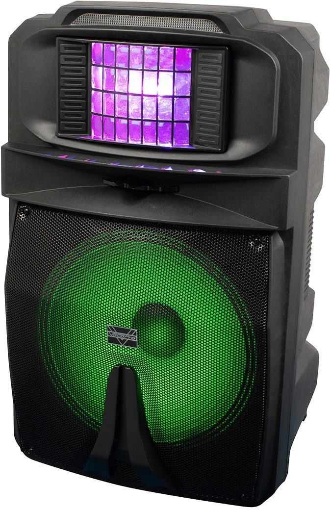 VocoPro Karaoke Thunder 1500 Powered Party PA Speaker (with Lights)