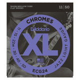 Load image into Gallery viewer, D'Addario ECG24 Chromes Flatwound Electric Guitar Strings (Jazz Light Gauge, 11-50)