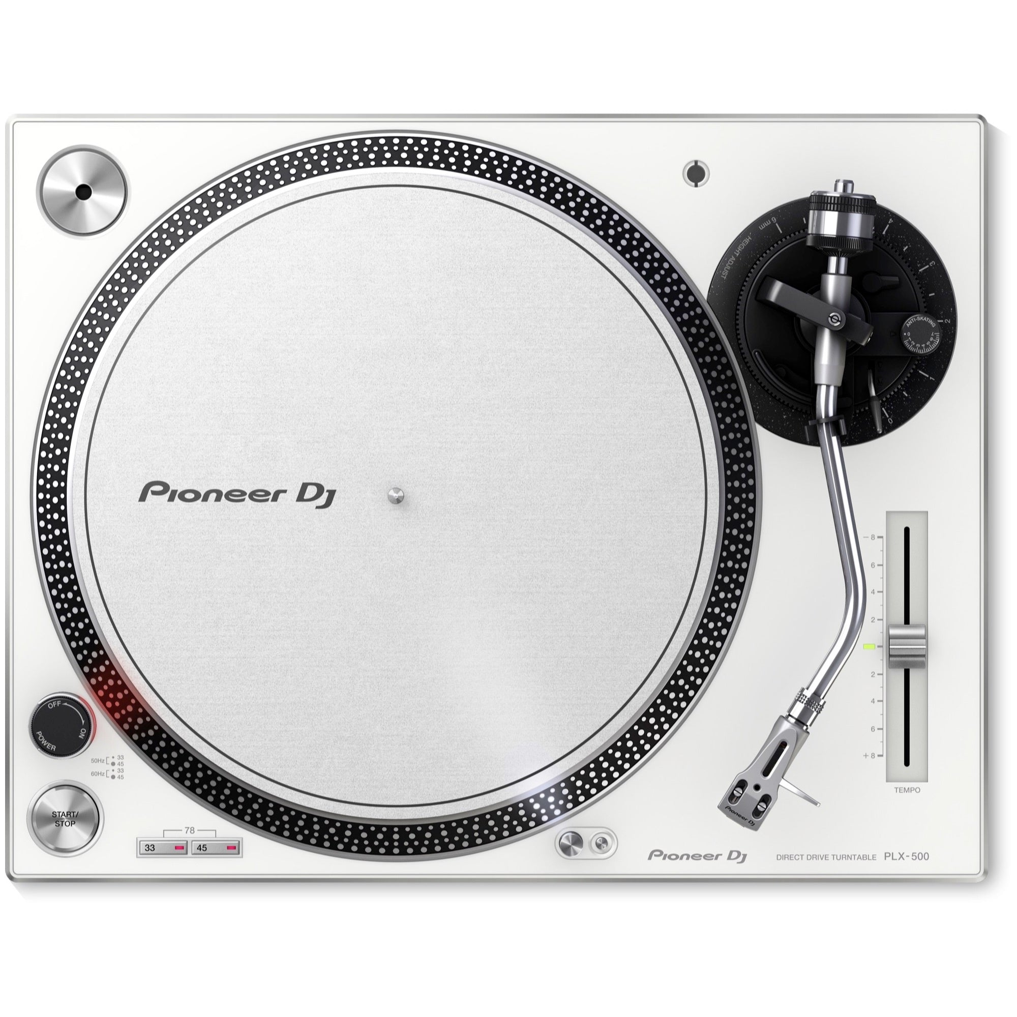 Pioneer PLX-500 Direct-Drive Turntable with USB, White