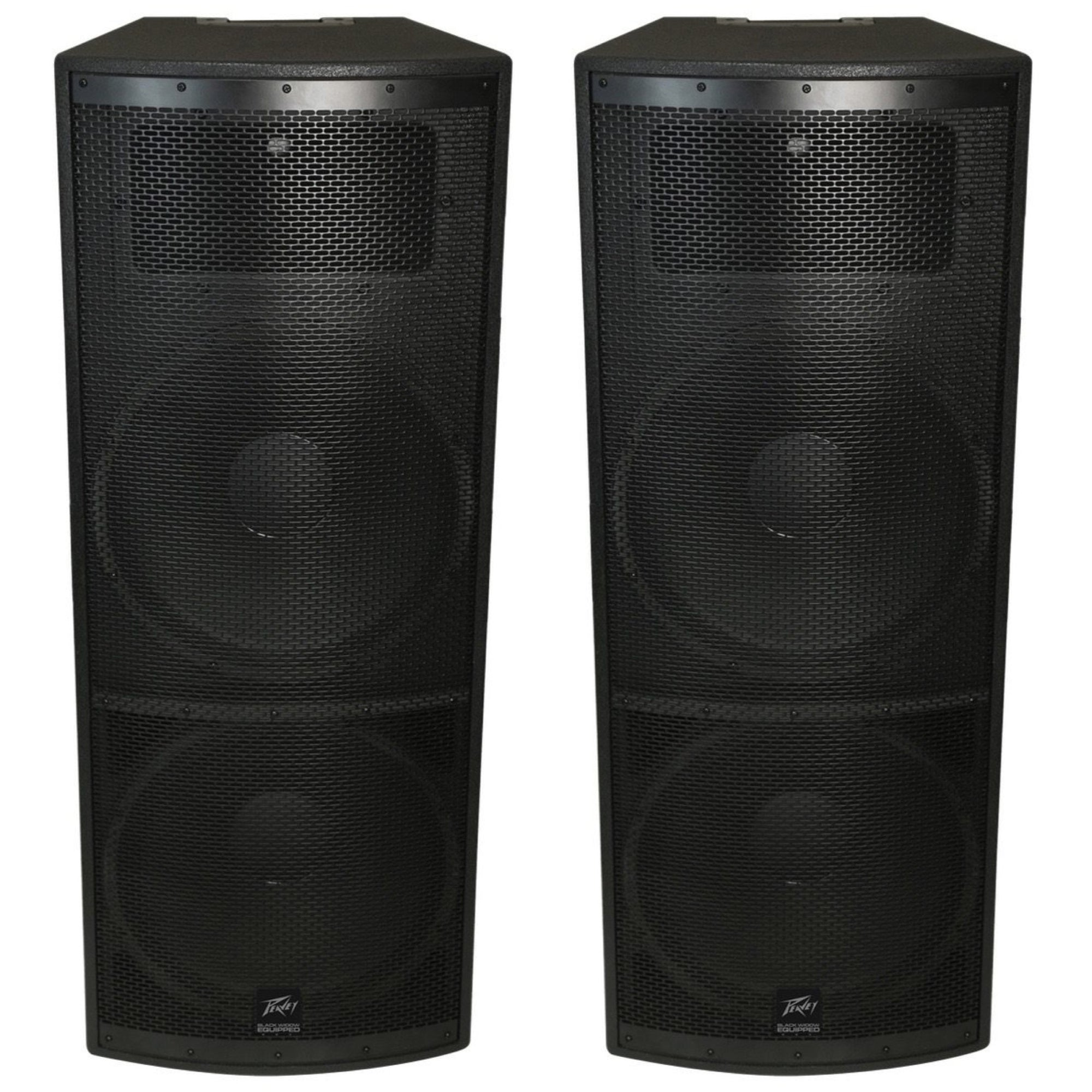 Peavey SP4 II Quasi-3-Way Passive, Unpowered PA Speaker (2000 Watts, 2x15 Inch), Pair