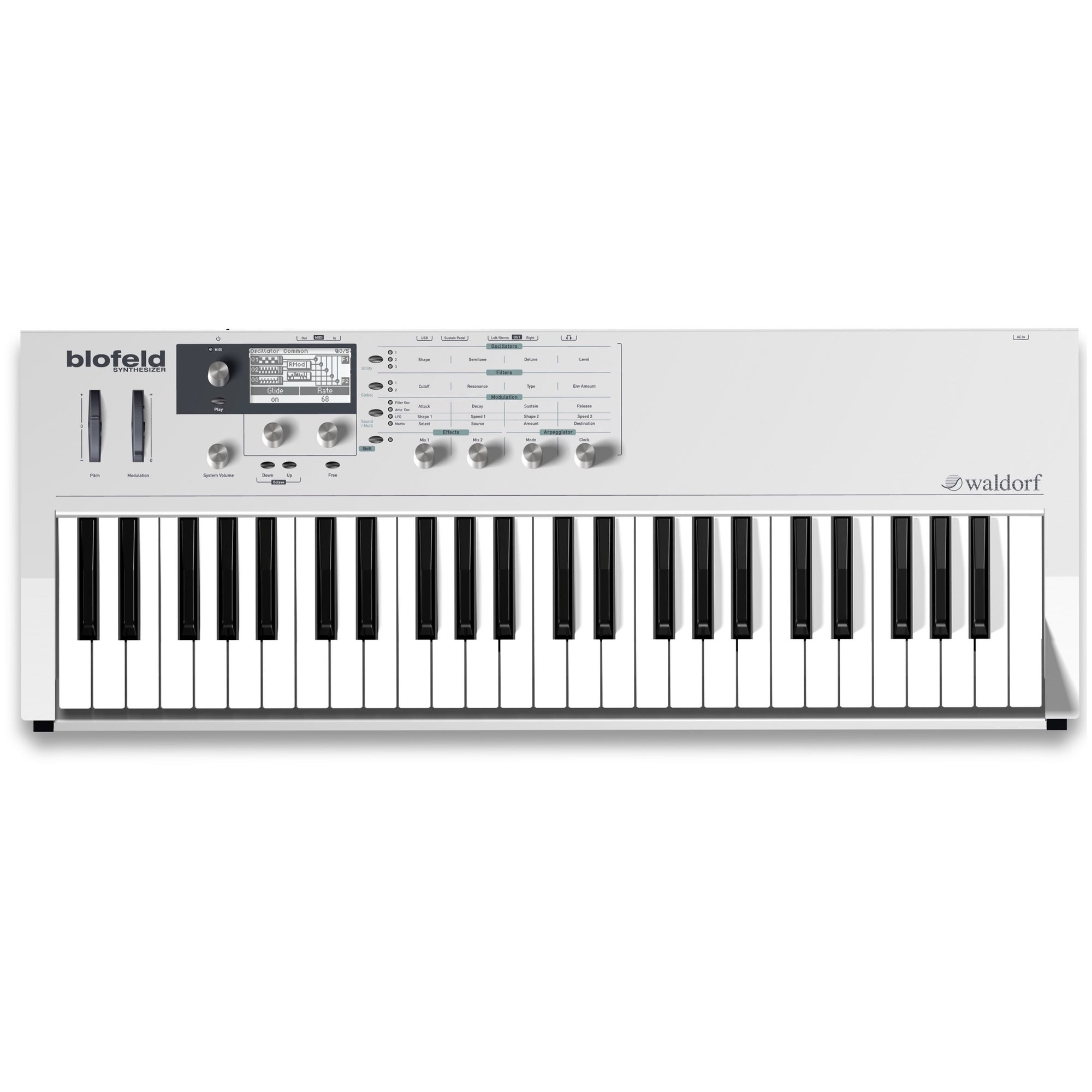 Waldorf Blofeld 49-Key Keyboard Synthesizer, White