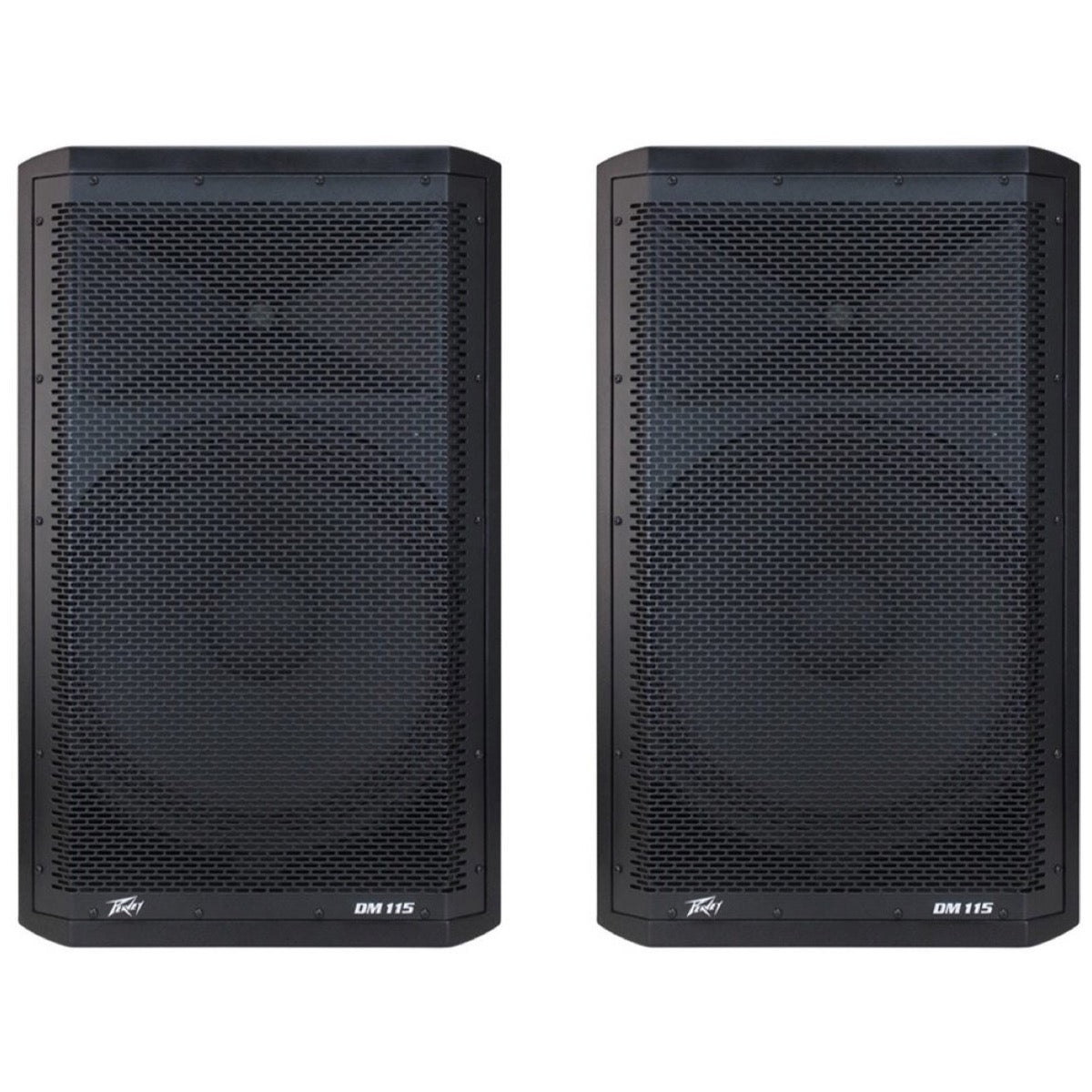 Peavey DM-115 Dark Matter Powered PA Speaker (660 Watts, 1x15 Inch), Pair