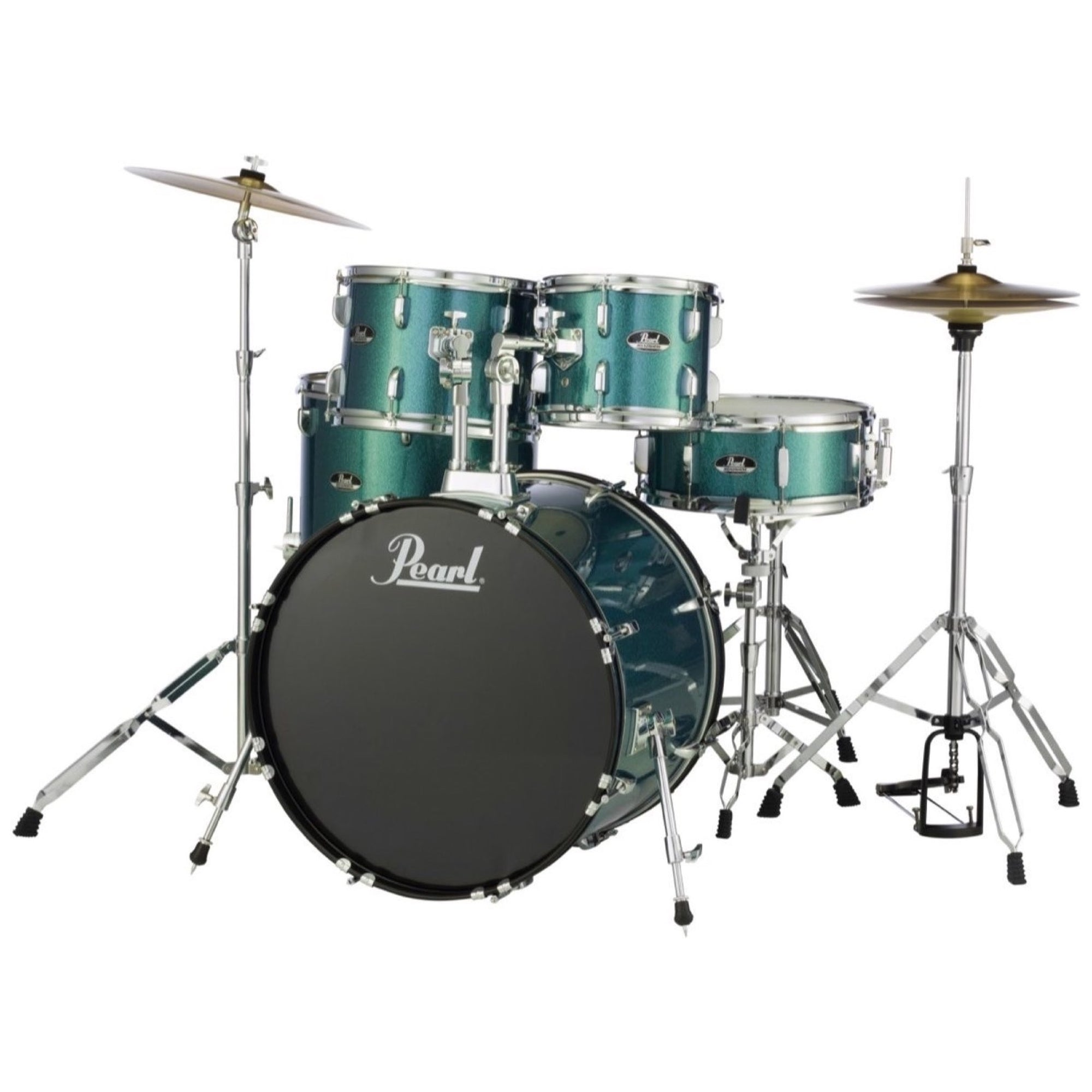 Pearl RS525SC Roadshow Complete Drum Kit, 5-Piece, Blue Glitter