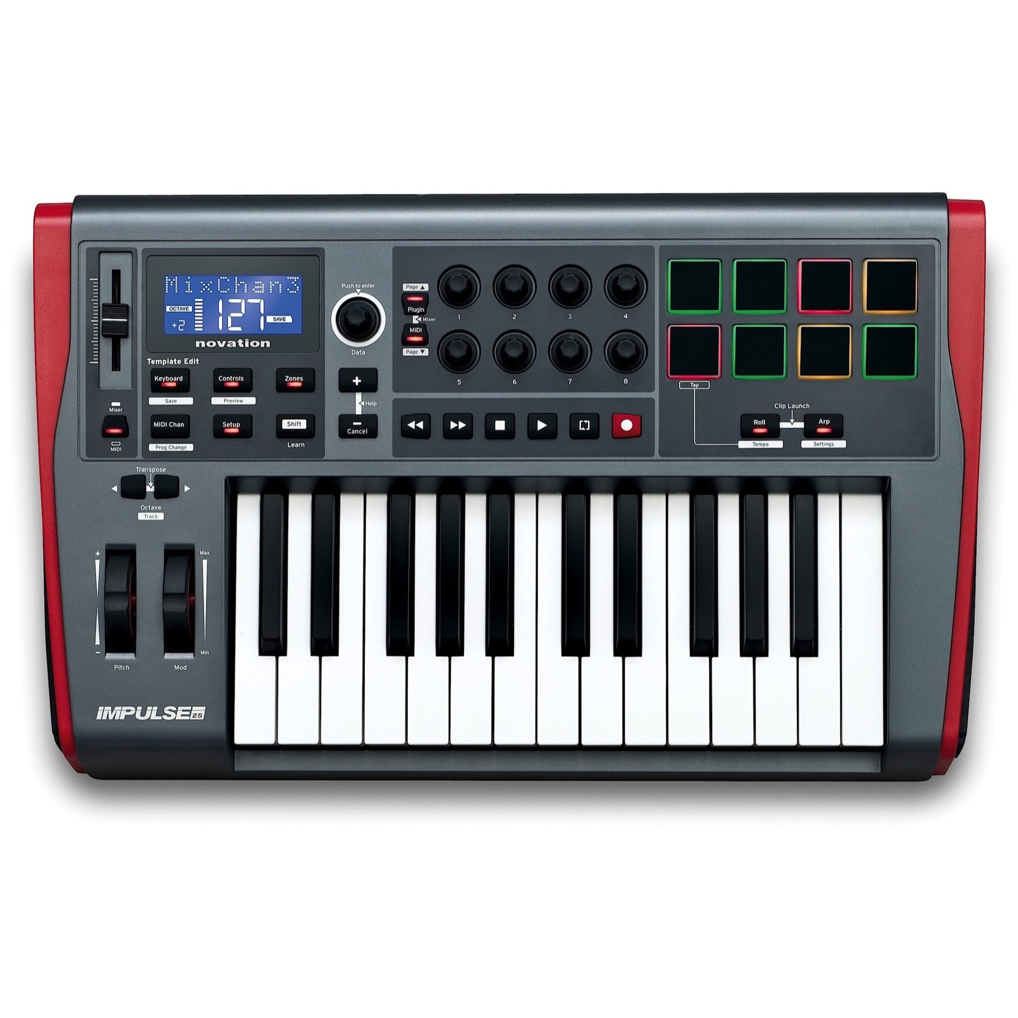 Novation Impulse 25 USB/MIDI Keyboard Controller, 25-Key