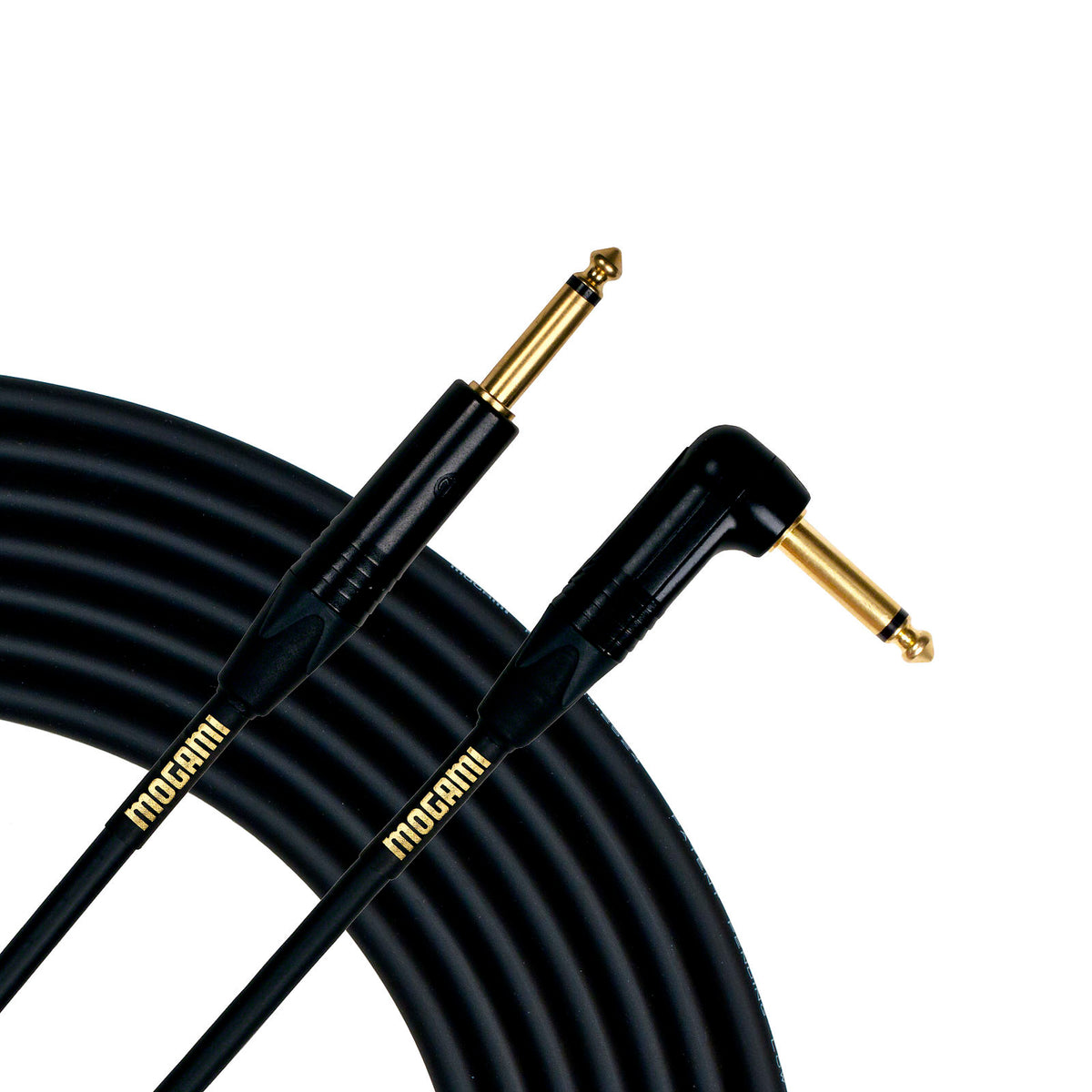 Mogami Gold Guitar/Instrument Cable (Straight to Right Angle End), 25 Foot