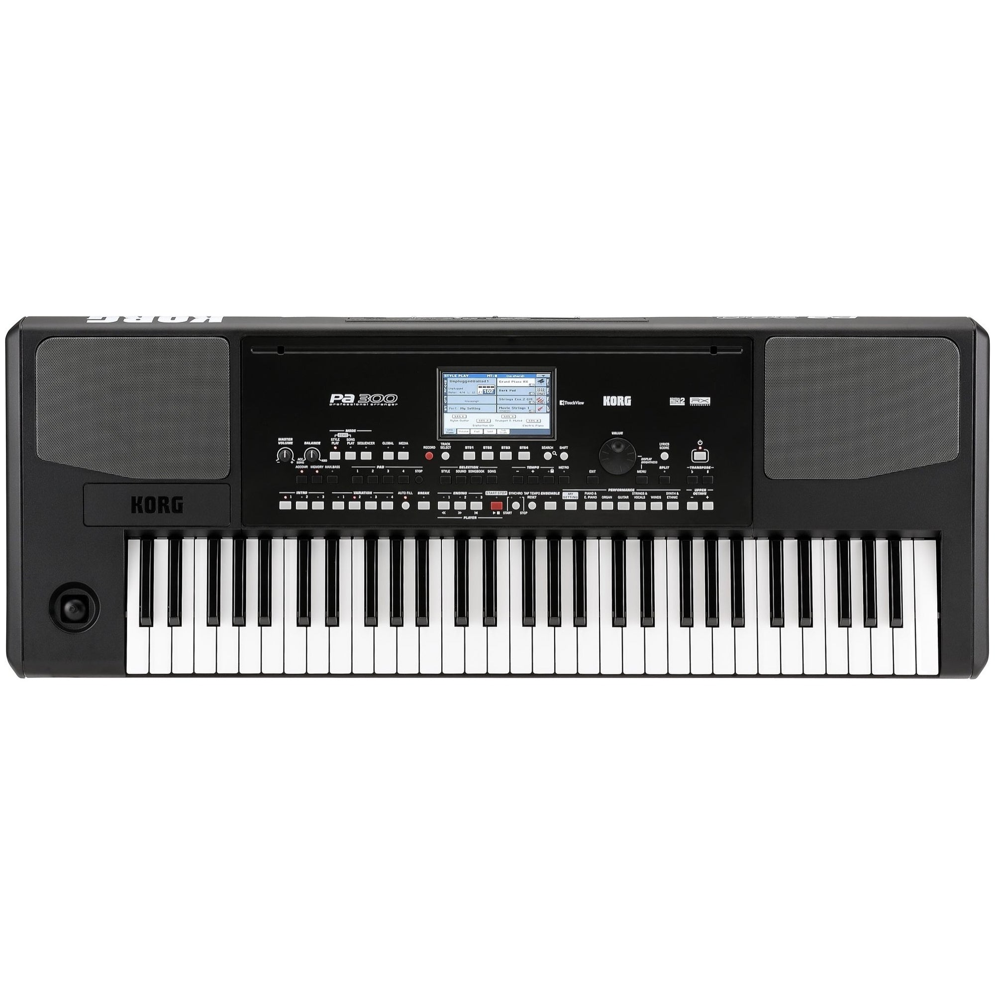 Korg Pa300 Arranger Workstation Keyboard, 61-Key