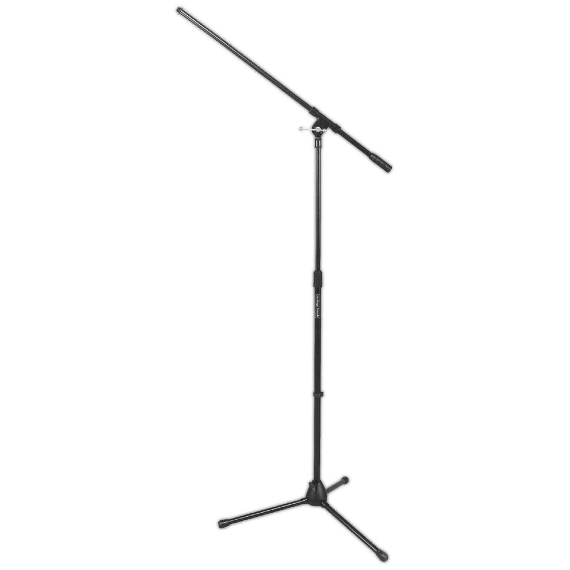 On-Stage 7701 Tripod Microphone Boom Stand, Black, 7701B, 3-Pack