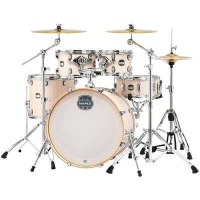 Mapex MA529SF Mars Rock Drum Shell Kit, 5-Piece, Bonewood - Chrome Rims