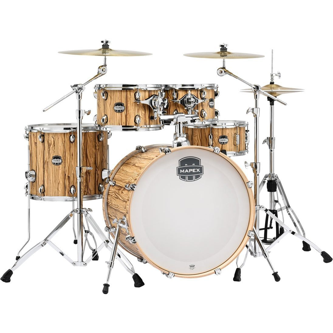 Mapex Mars Rock 5-Piece Drum Shell Pack - Driftwood with Chrome Rims
